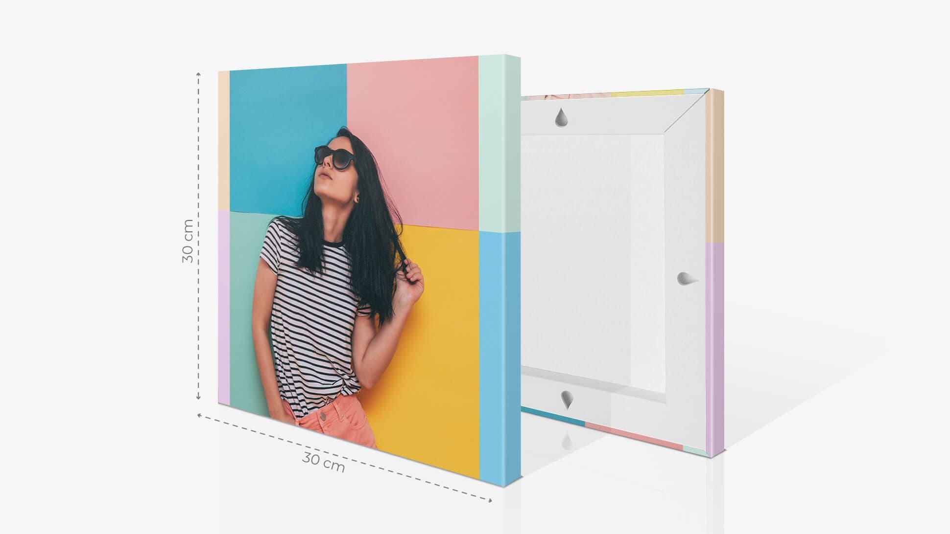Fotoquadro 30x30cm con grafica | tictac.it