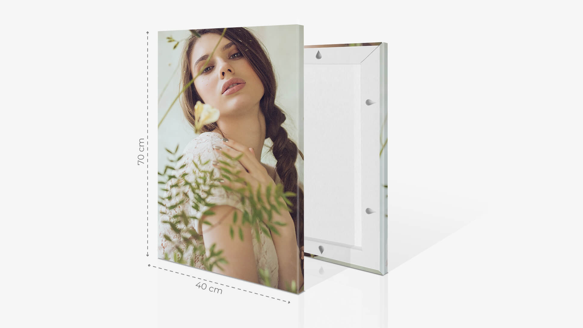 Fotoquadro 40x70cm con grafica | tictac.it