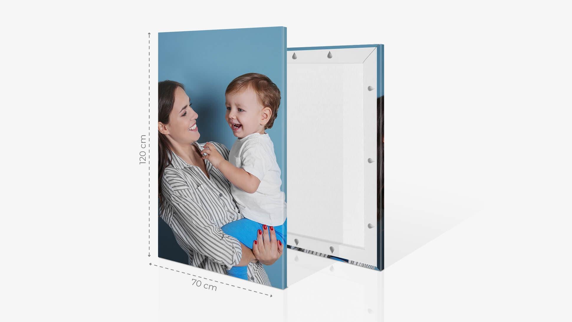 Fotoquadro 70x120cm con grafica | tictac.it