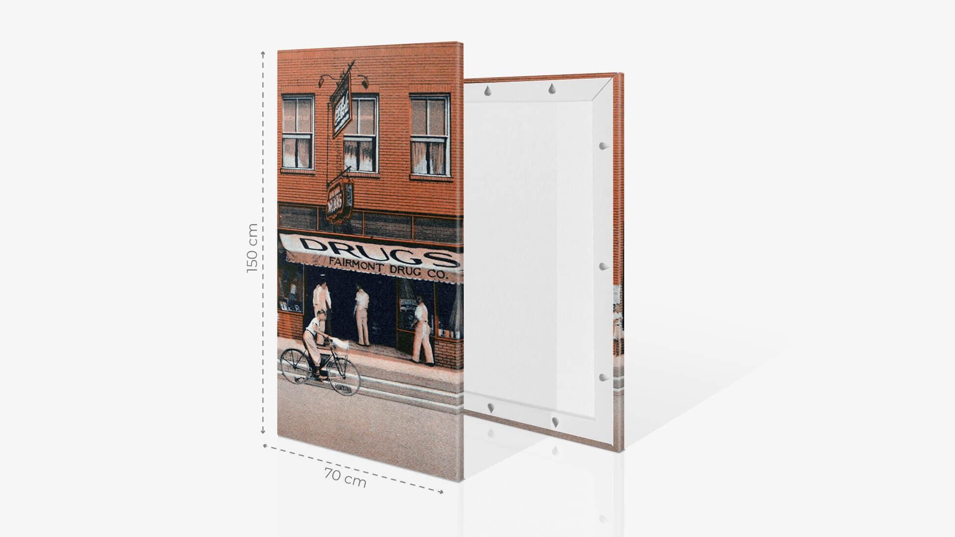 Fotoquadro 70x150cm con grafica | tictac.it