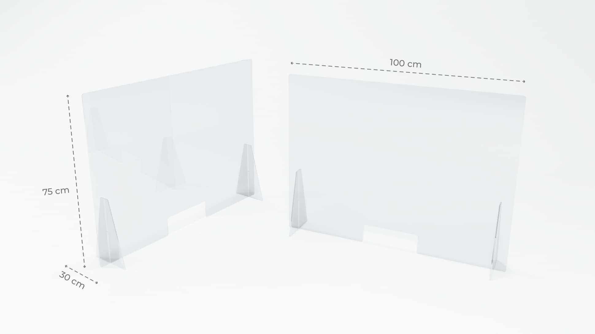 Separè parafiato in plastiglass trasparente 5 mm grande | tictac.it