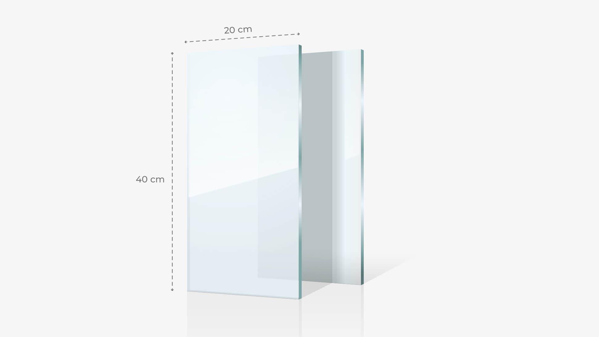 Foto su vetro acrilico 20x40 cm | tictac.it