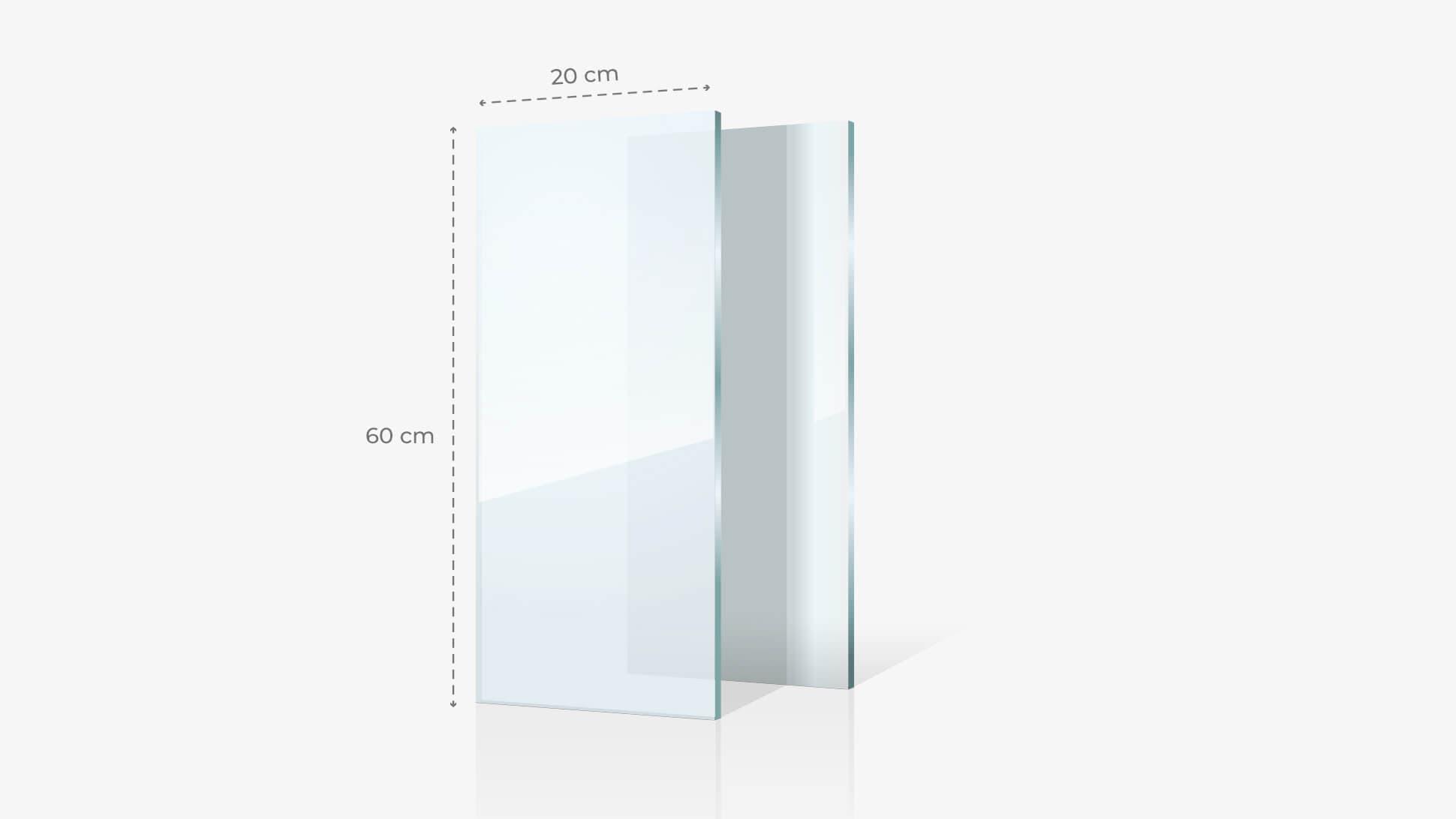 Foto su vetro acrilico 20x60 cm   tictac.it