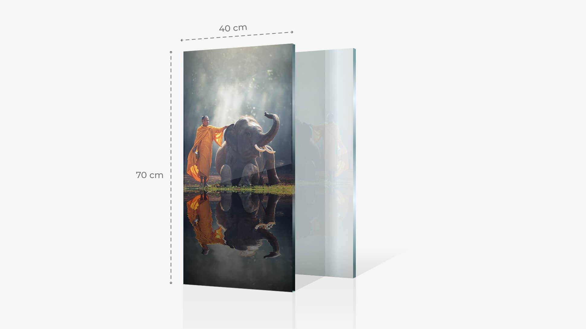Foto su vetro acrilico 40x70 cm con grafica | tictac.it