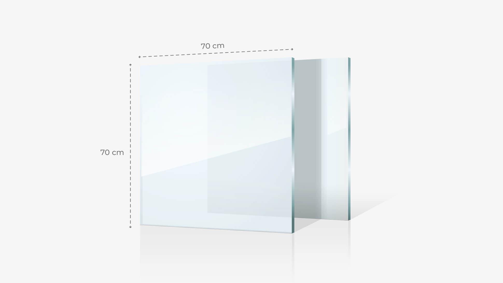 Foto su vetro acrilico 70x70 cm | tictac.it