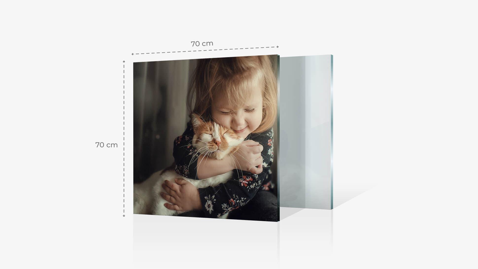 Foto su vetro acrilico 70x70 cm con grafica | tictac.it