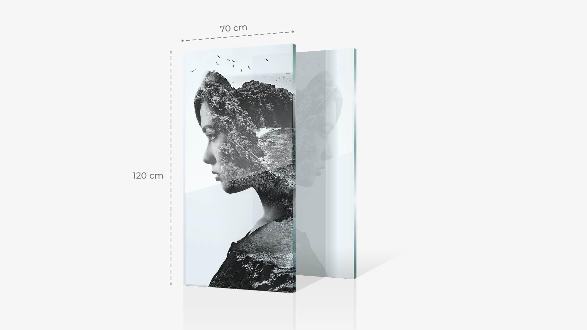 Foto su vetro acrilico 70x120 cm con grafica | tictac.it