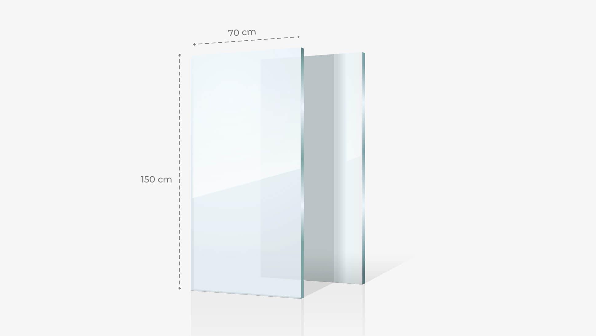 Foto su vetro acrilico 70x150 cm | tictac.it
