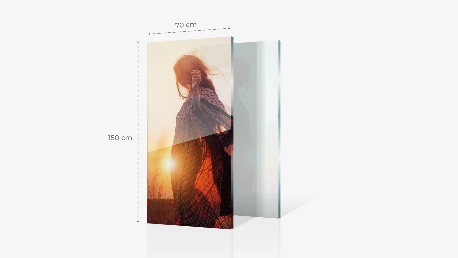 Foto su vetro acrilico 70x150 cm con grafica | tictac.it