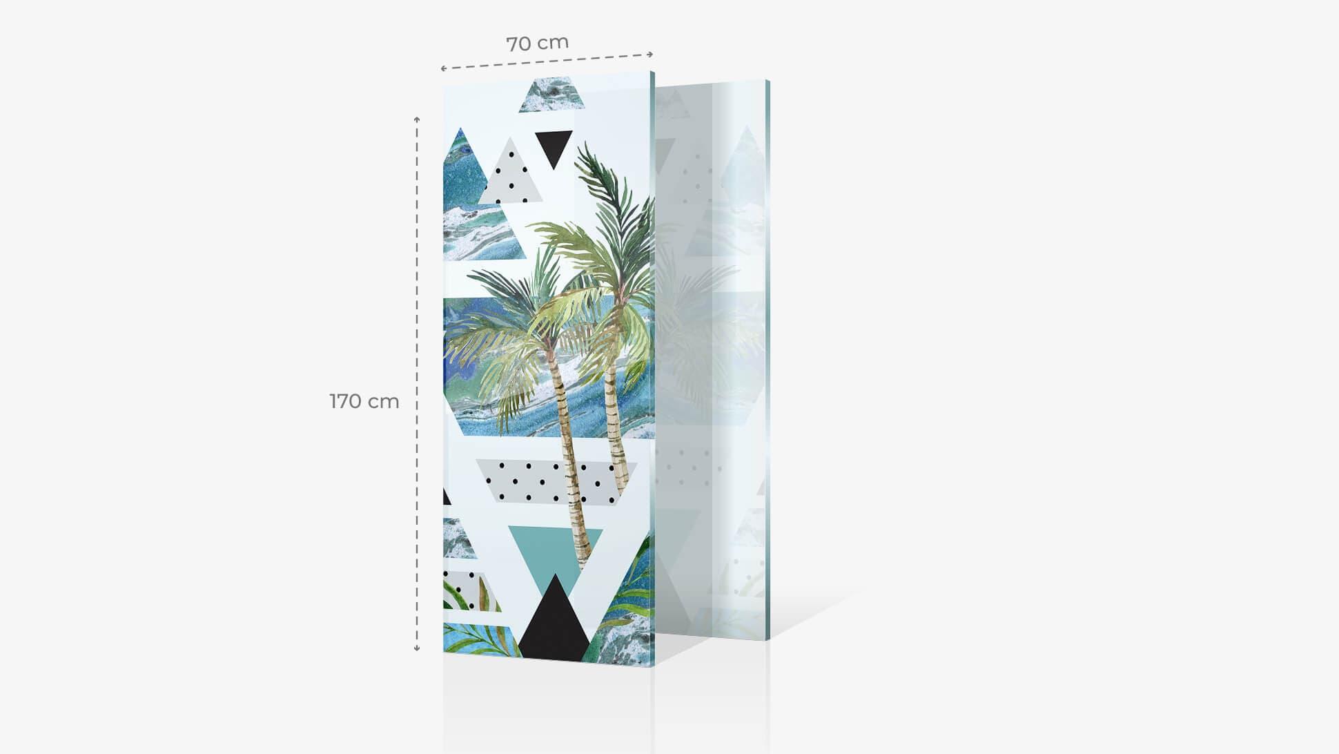 Foto su vetro acrilico 70x170 cm con grafica | tictac.it
