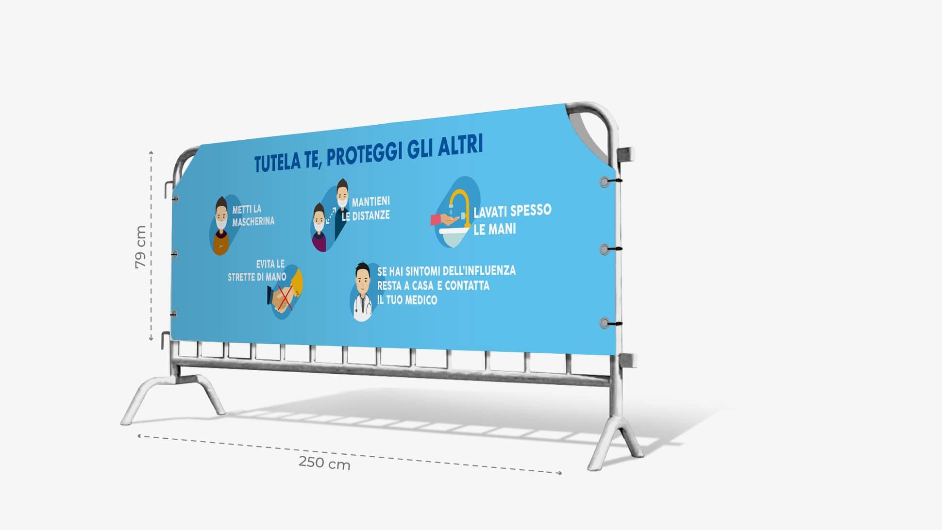 Copritransenna in PVC con grafica prestampata azzurra| tictac.it