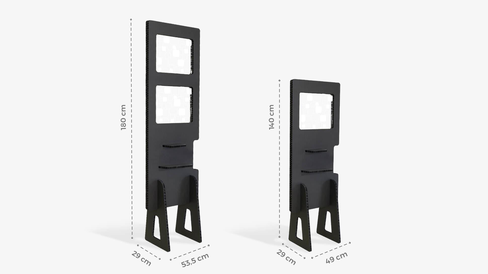 Divisorio in Nidoboard nero da 16 mm per separare ambienti, locali, centri estetici | tictac.it