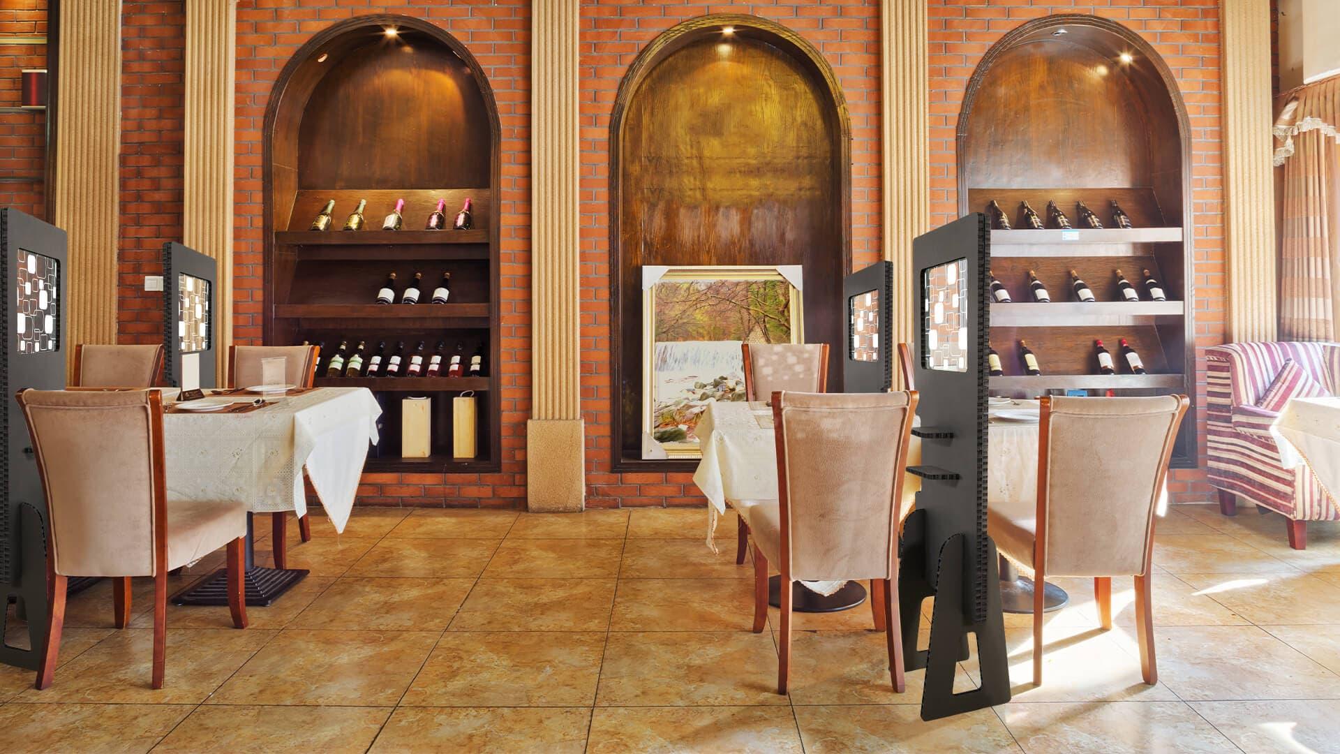 Divisorio per bar e ristoranti in Nidoboard nero | tictac.it