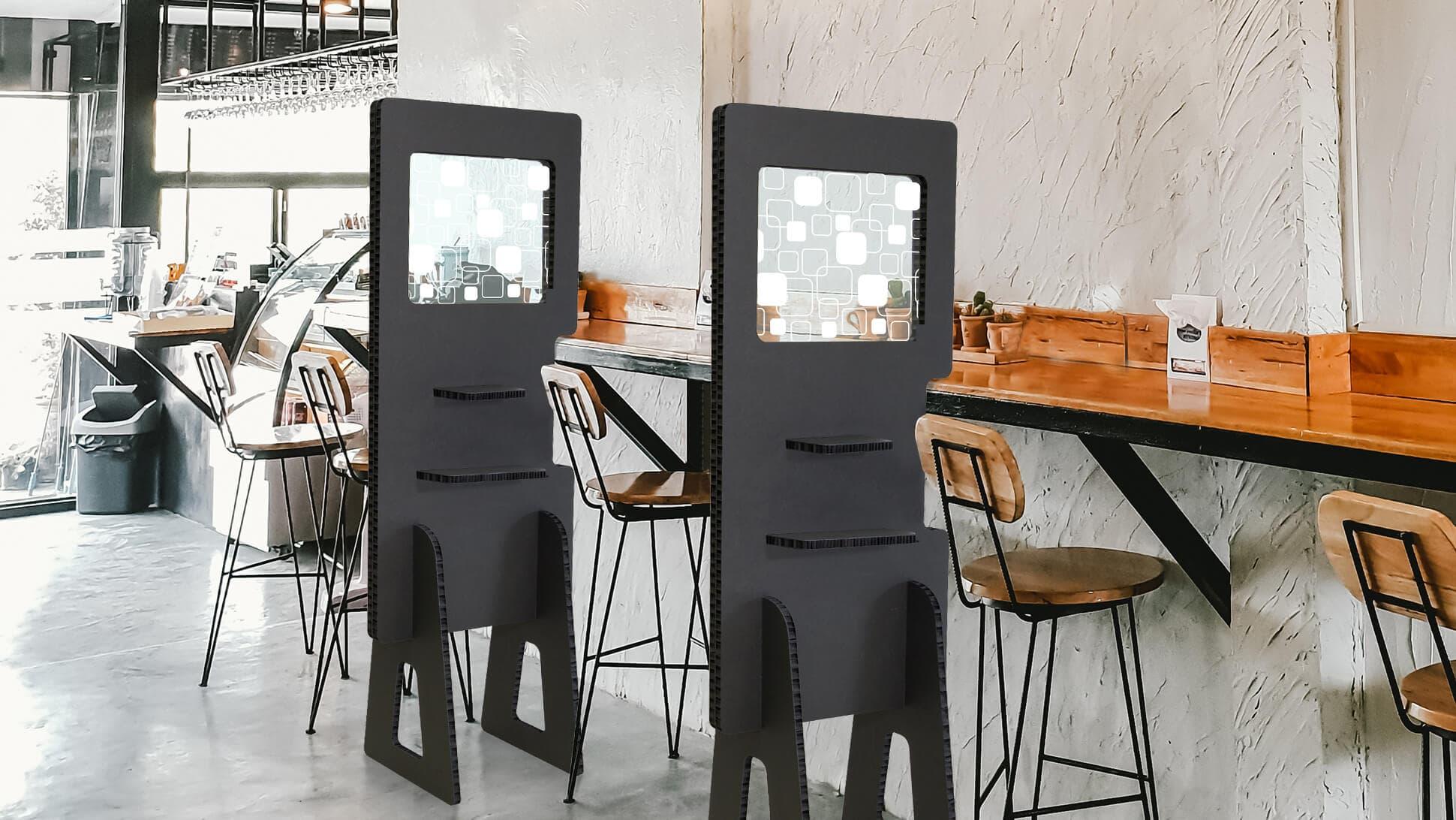 Divisorio in Nidoboard nero per locali e ristoranti | tictac.it