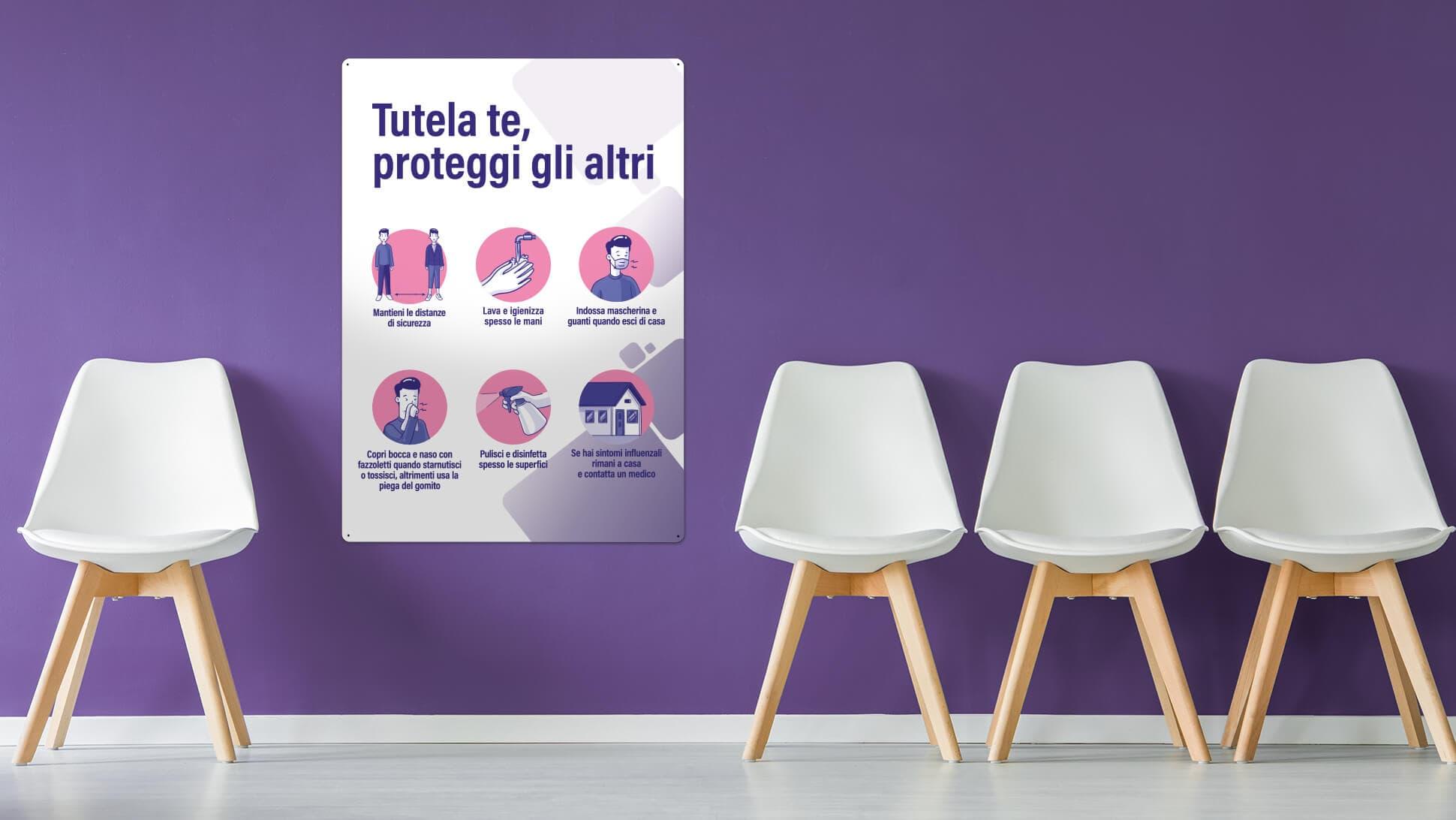 Pannelli illustrativi covid prestampati | tictac.it