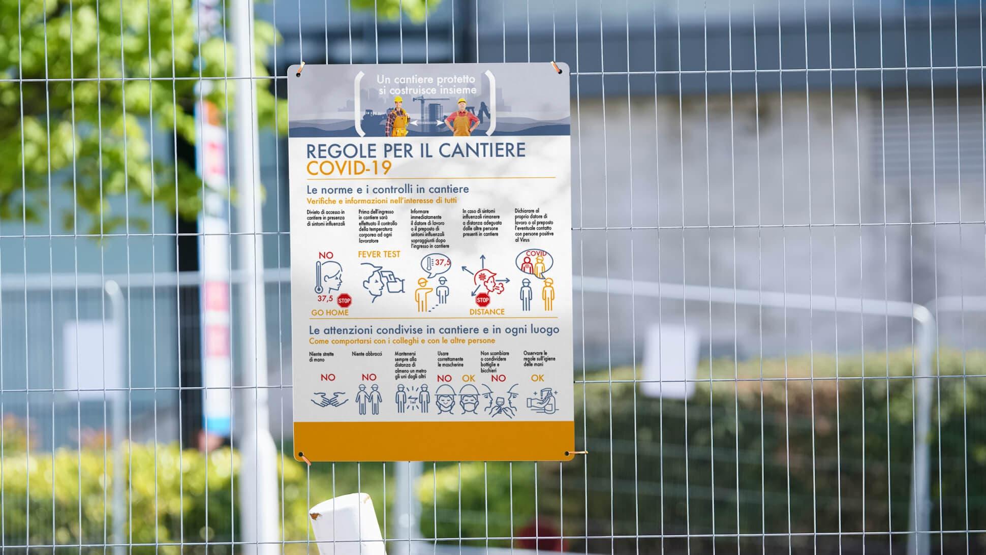 cartello Covid con regole per il cantiere in Forex | tictac.it