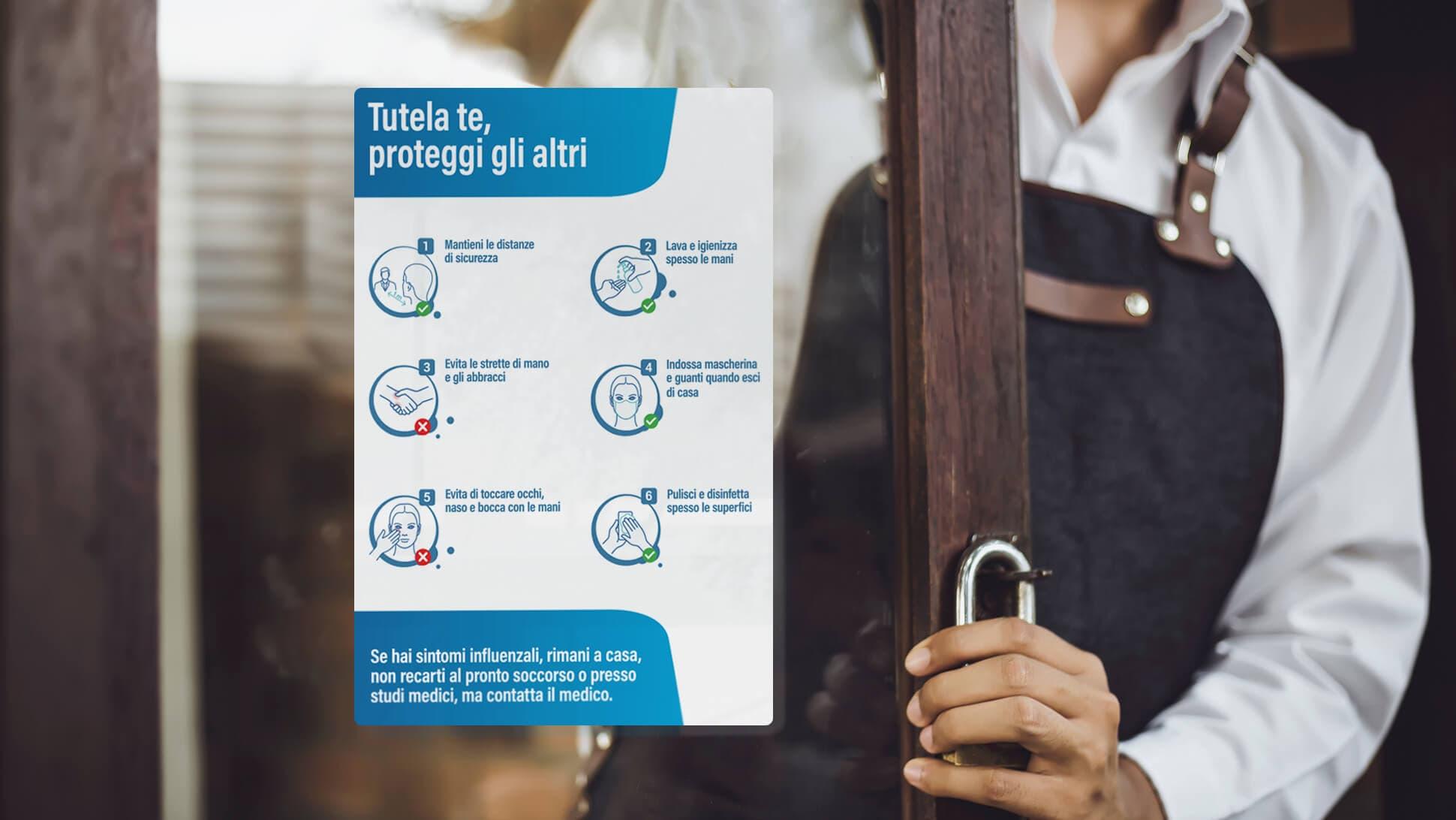 Adesivo in PVC per entrate negozi | tictac.it
