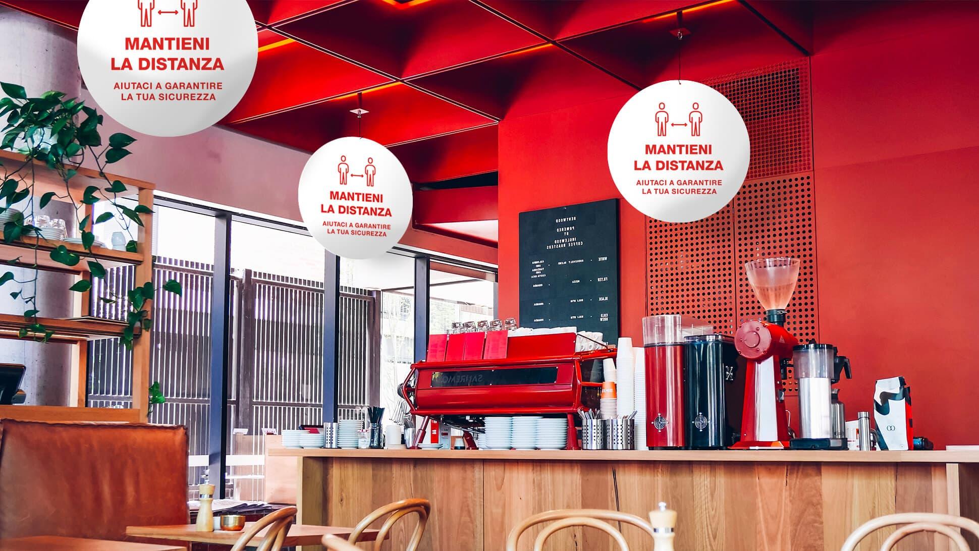 Rotair bianco e rosso per bar, locali, negozi | tictac.it