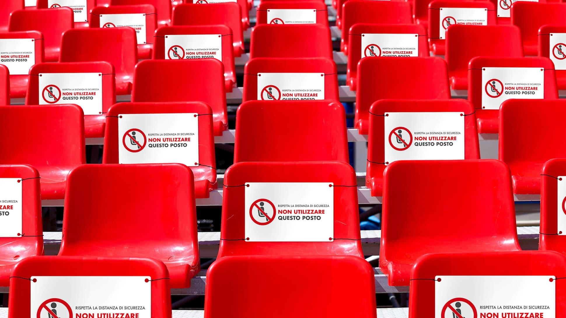 Segnaposto divieto di sedersi per spalti | tictac.it
