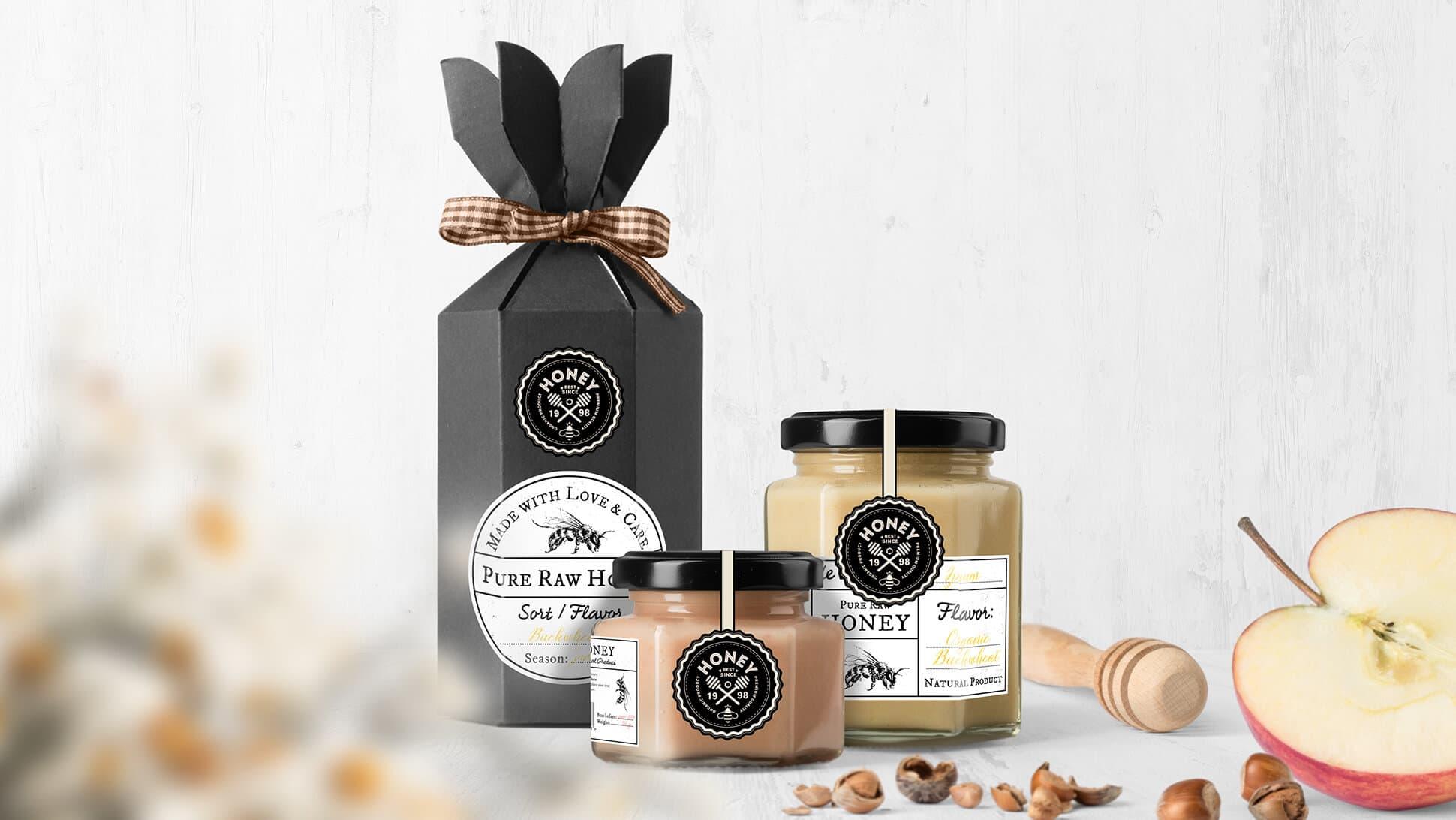 Etichette per barattoli di miele con sigillo di garanzia | tictac.it