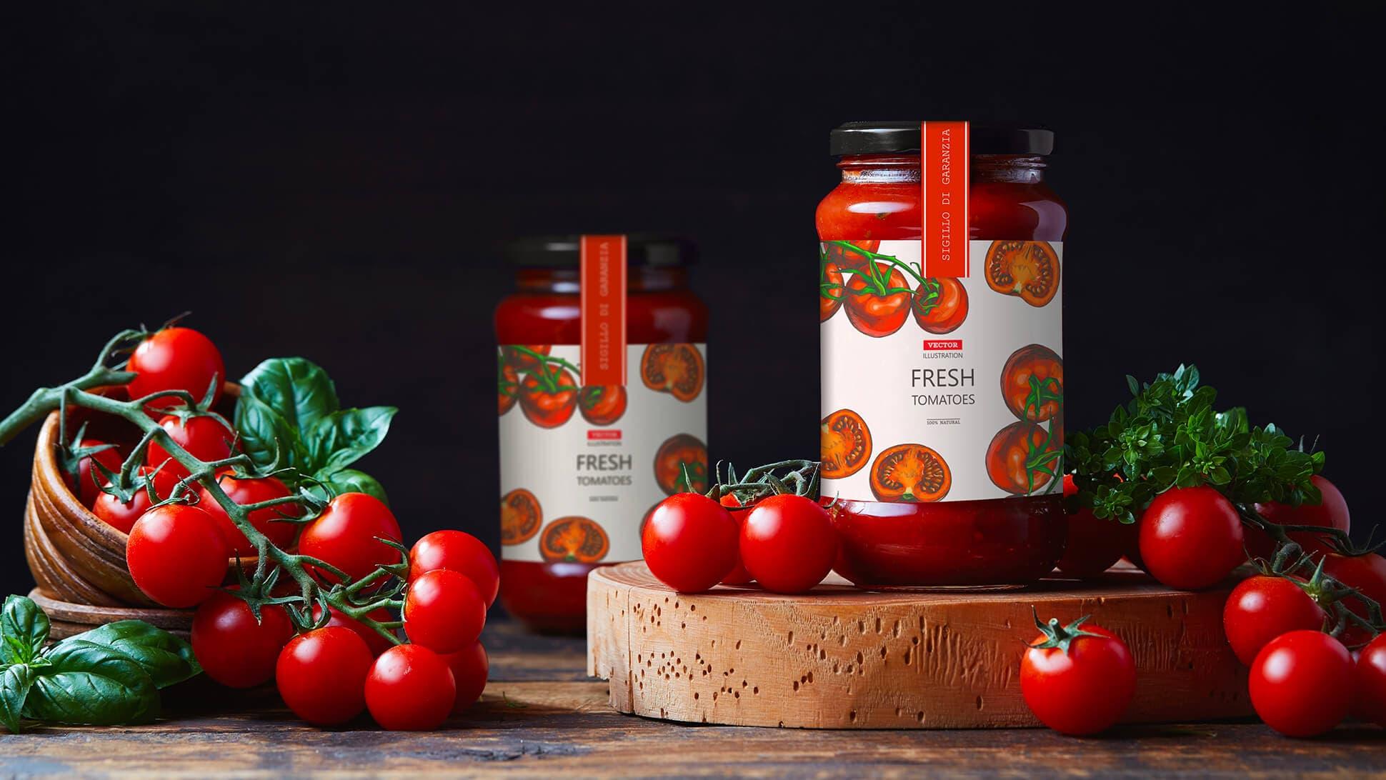 Etichette per vasetti di passata e prodotti alimentari in genere | tictac.it