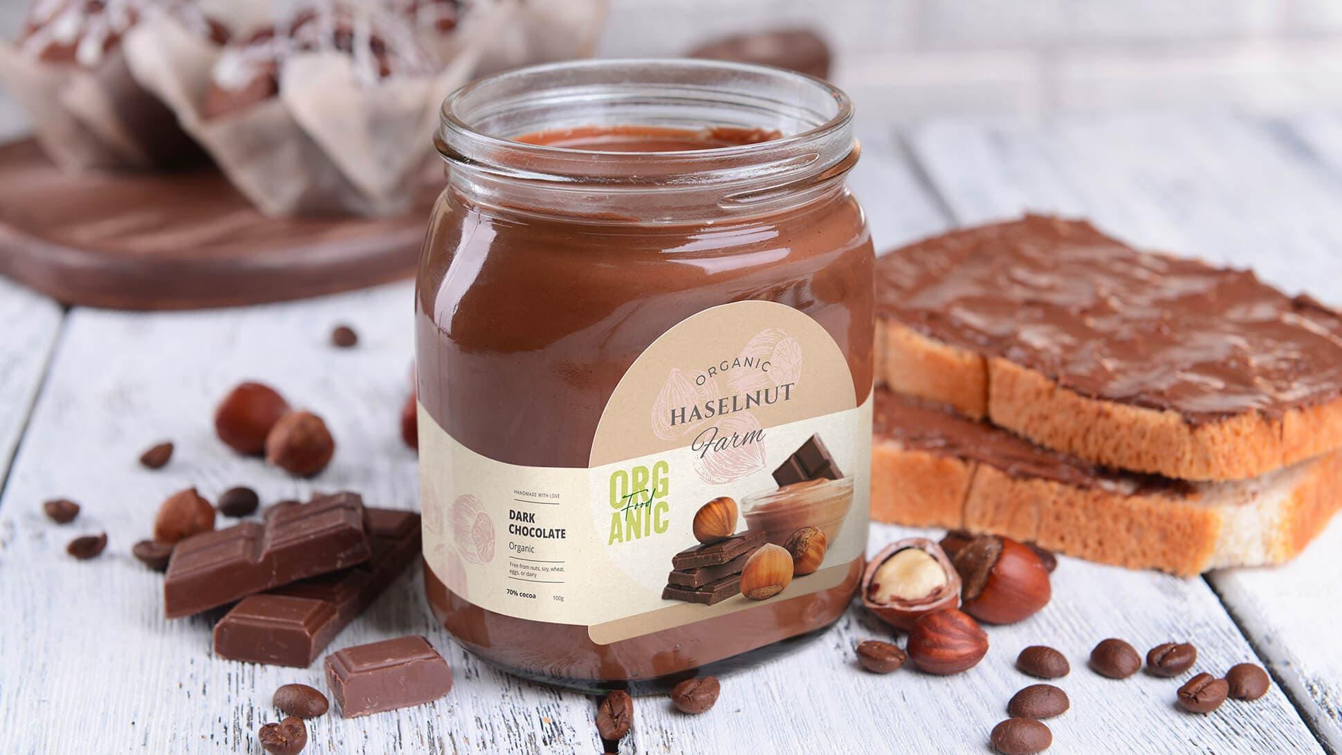 Etichette per vasetti di nocciolata e cioccolata | tictac.it