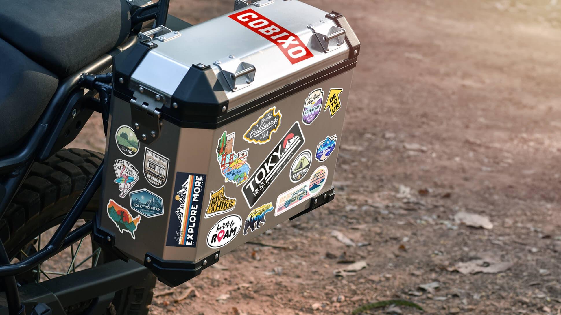 Sticker adesivi di viaggi e località turistiche personalizzabili per moto e auto | tictac.it
