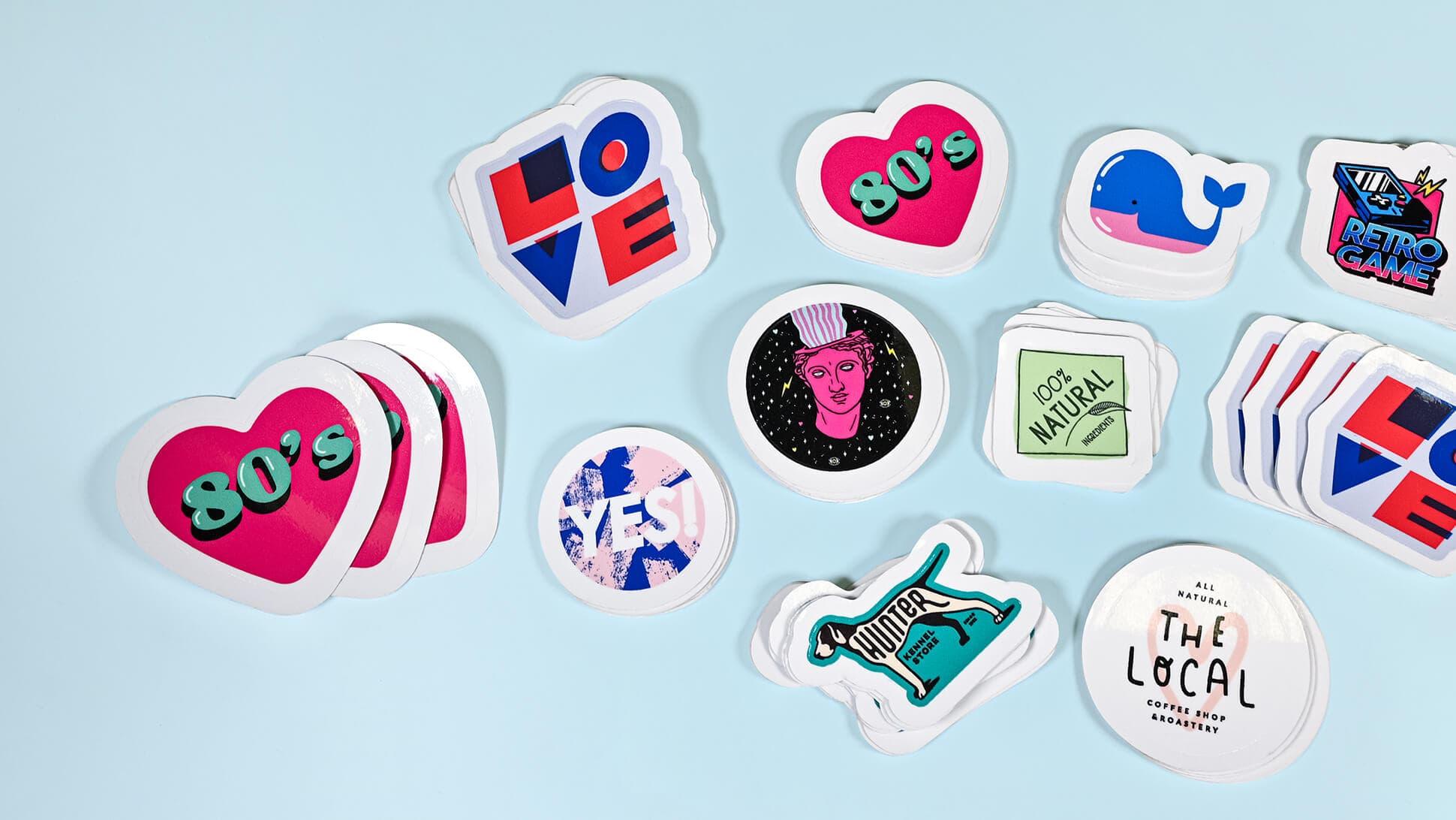 Set di sticker personalizzabili | tictac.it