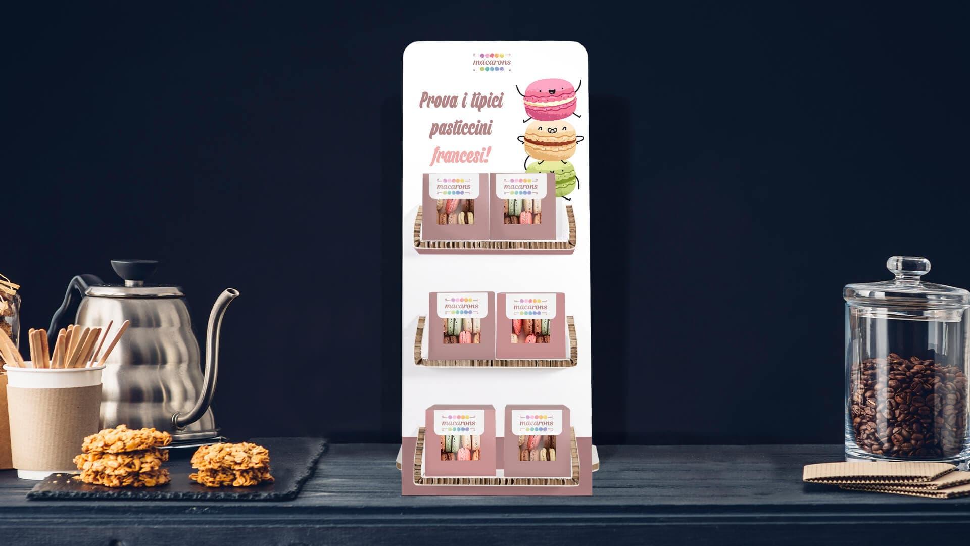 Espositore Noce con grafica per dolcetti e biscotti | tictac.it
