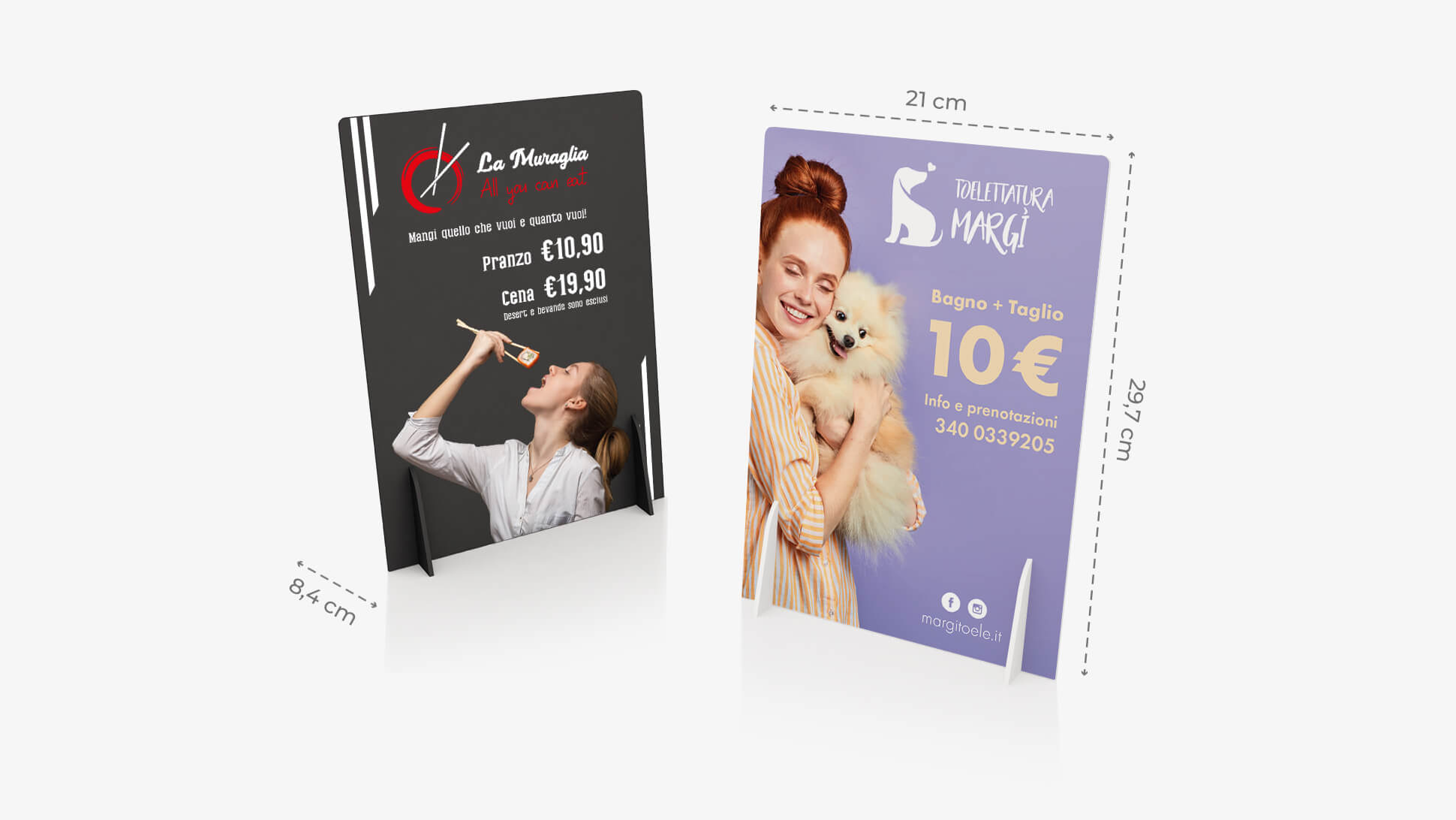 Display pvc A4 personalizzabile | tictac.it