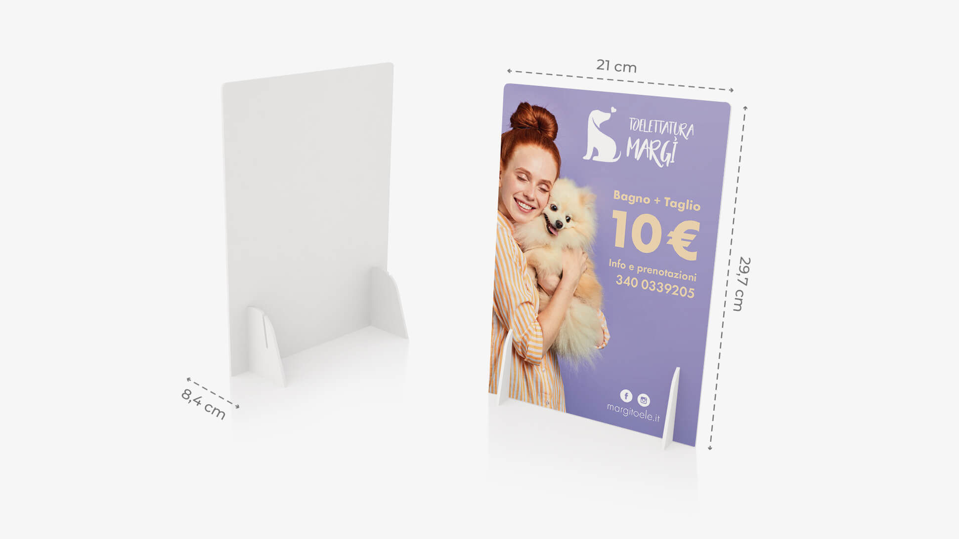Display pvc bianco A4 con grafica | tictac.it