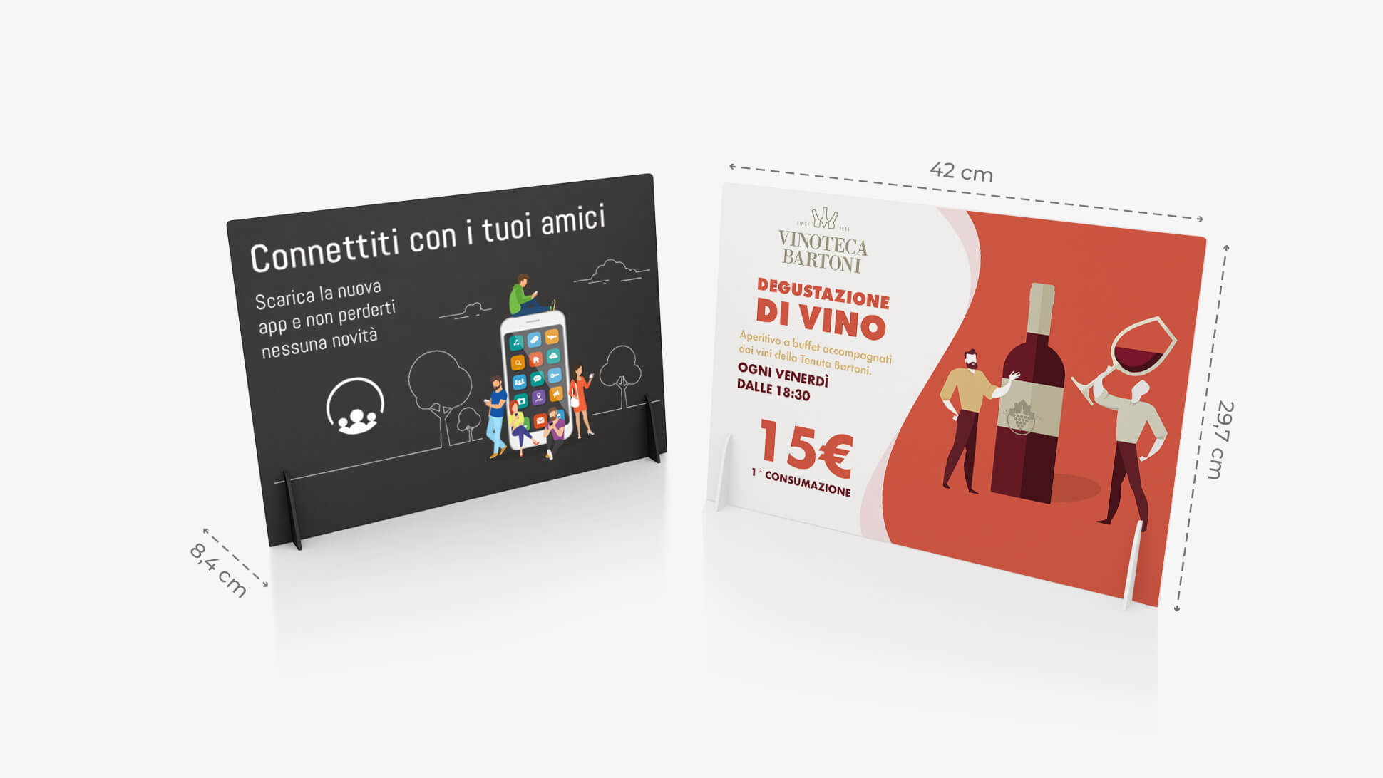Display pvc A3 orizzontale personalizzabile | tictac.it
