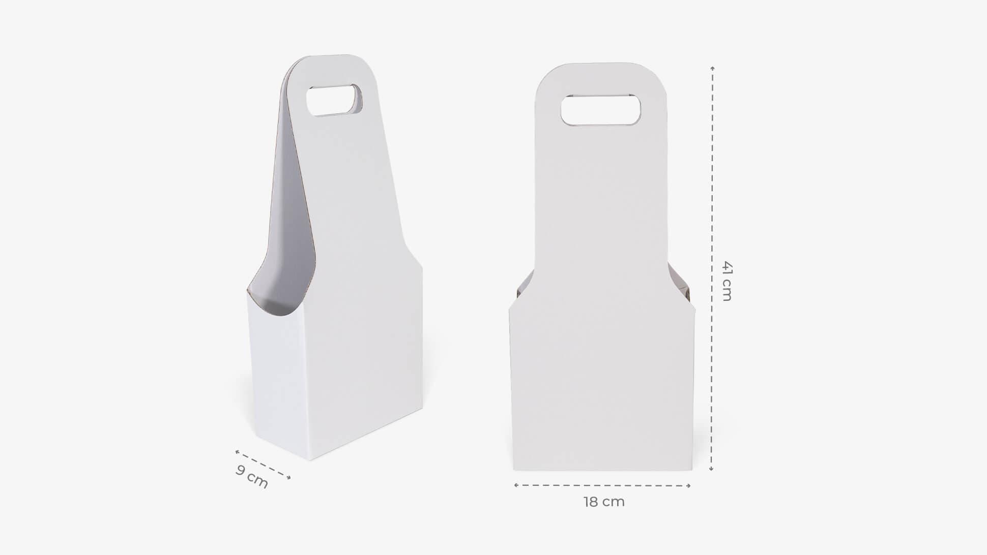 Confezione per due bottiglie in cartone micronormale | tictac.it