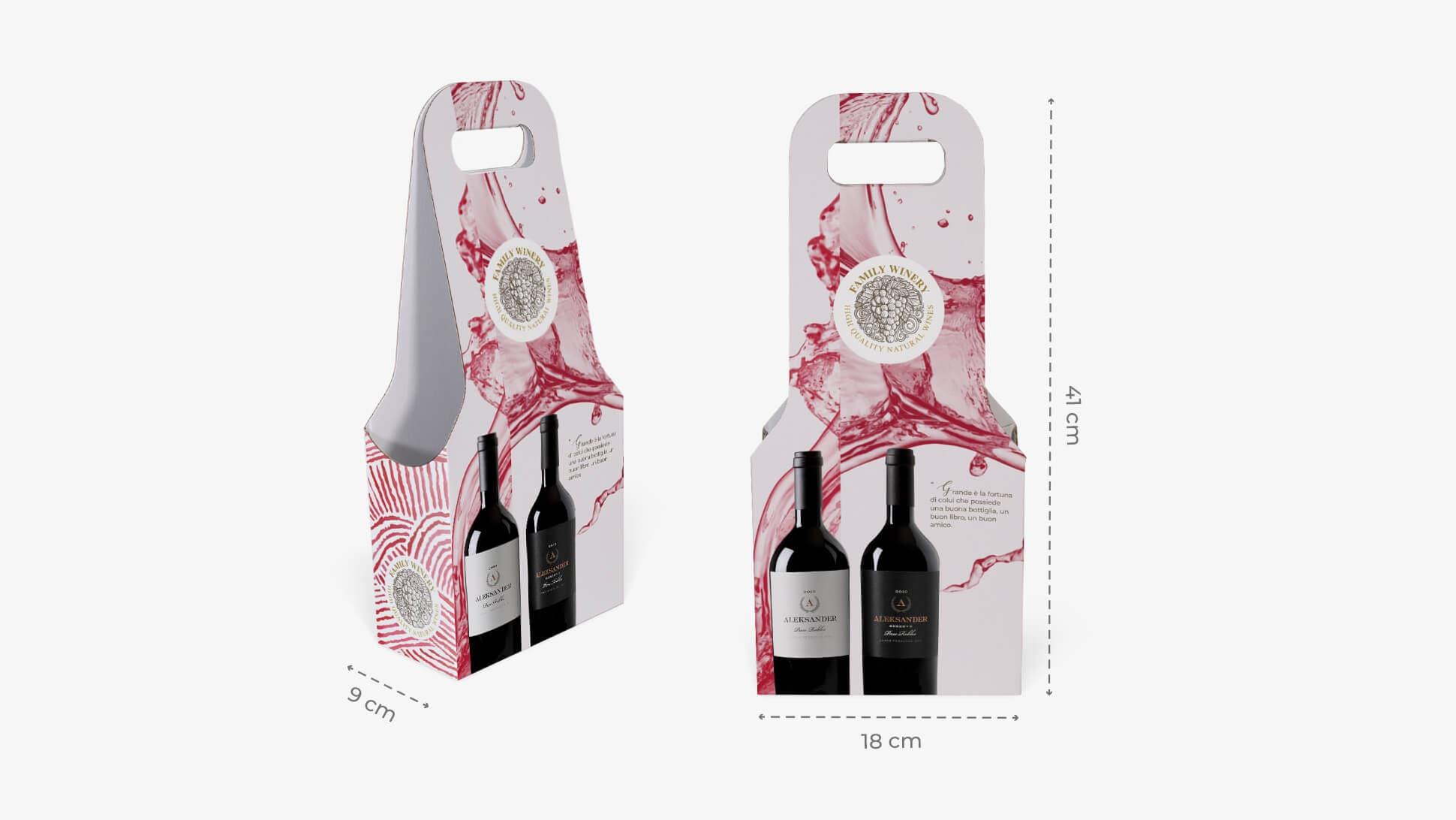 Confezione per due bottiglie con grafica personalizzabile | tictac.it