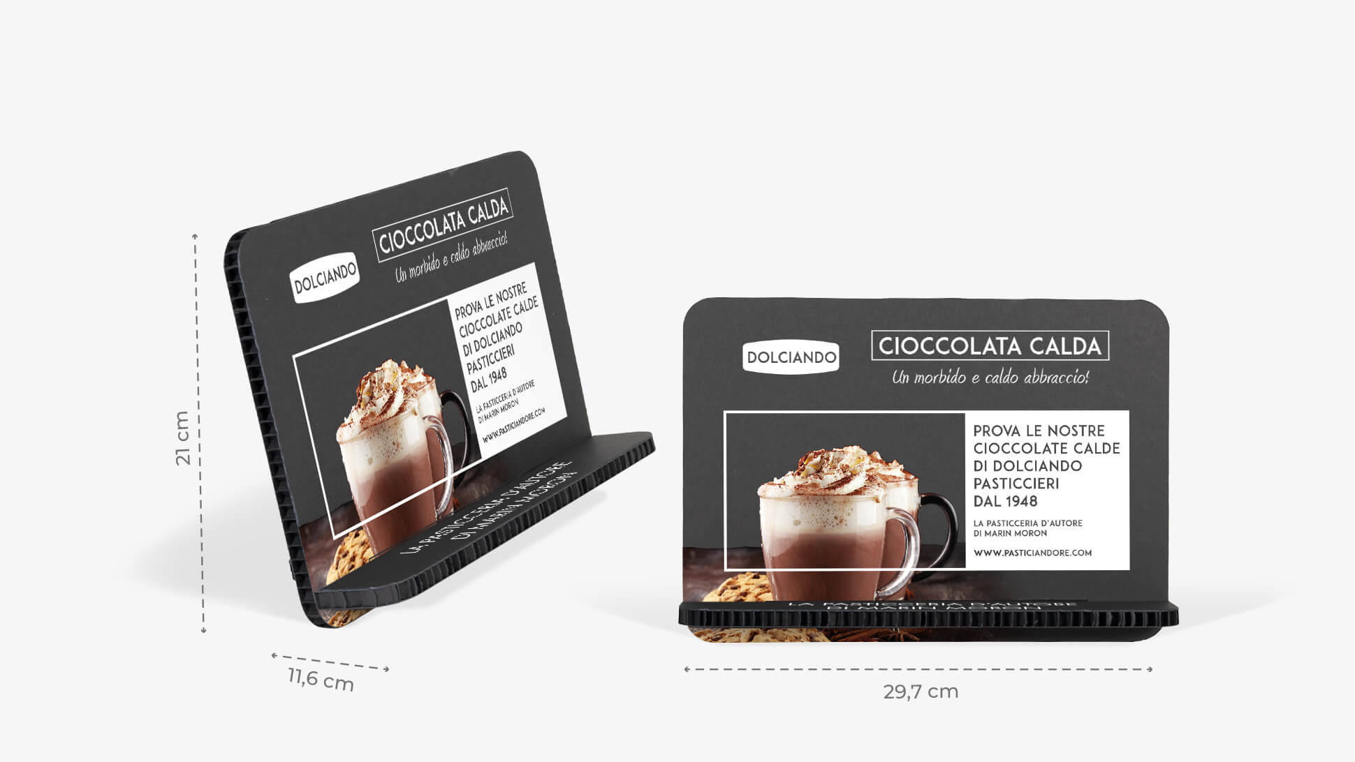 Display Germano A4 orizzontale colore nero | tictac.it