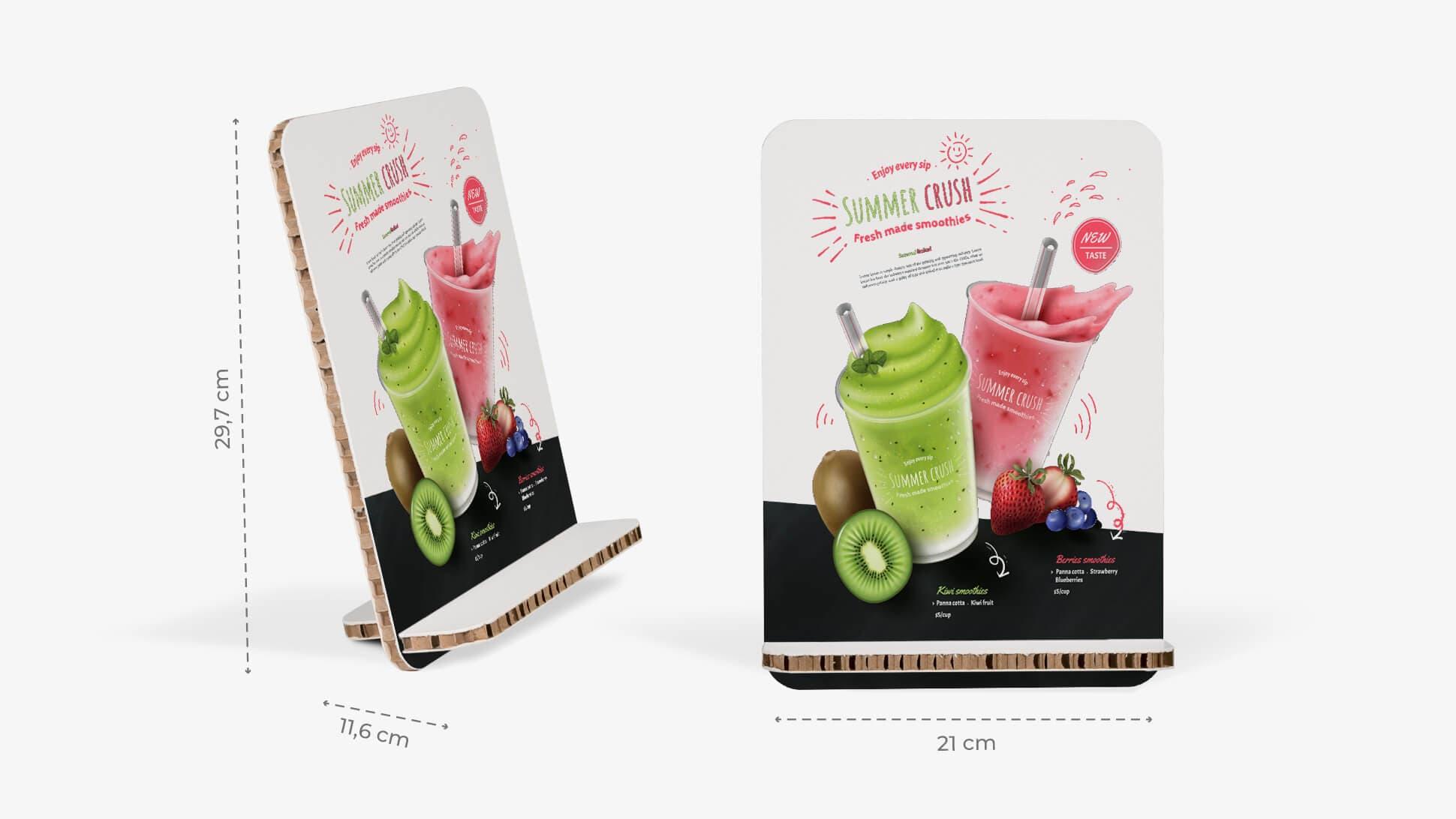 Display da banco inclinato 21x29,7 cm grafica drink | tictac.it