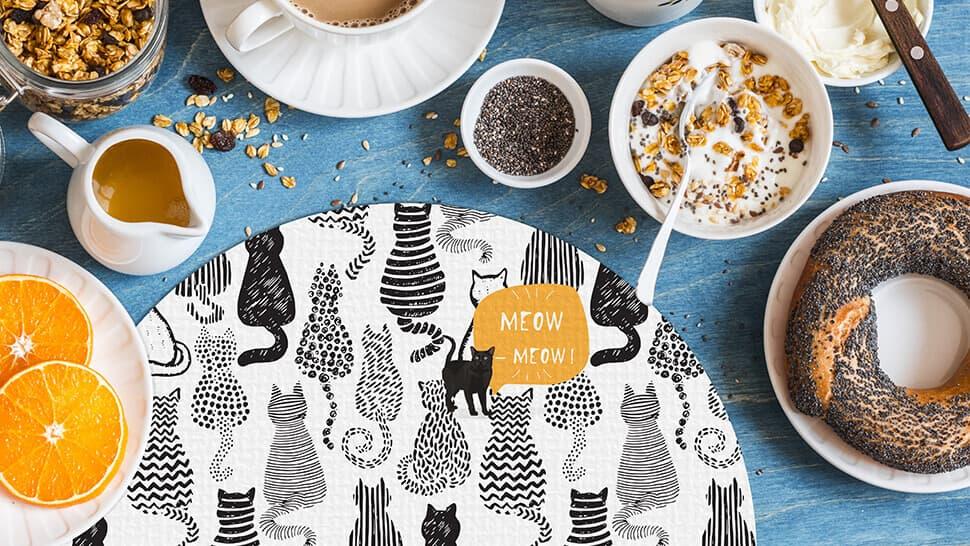 Tovaglietta personalizzata con grafica gatti | tictac.it