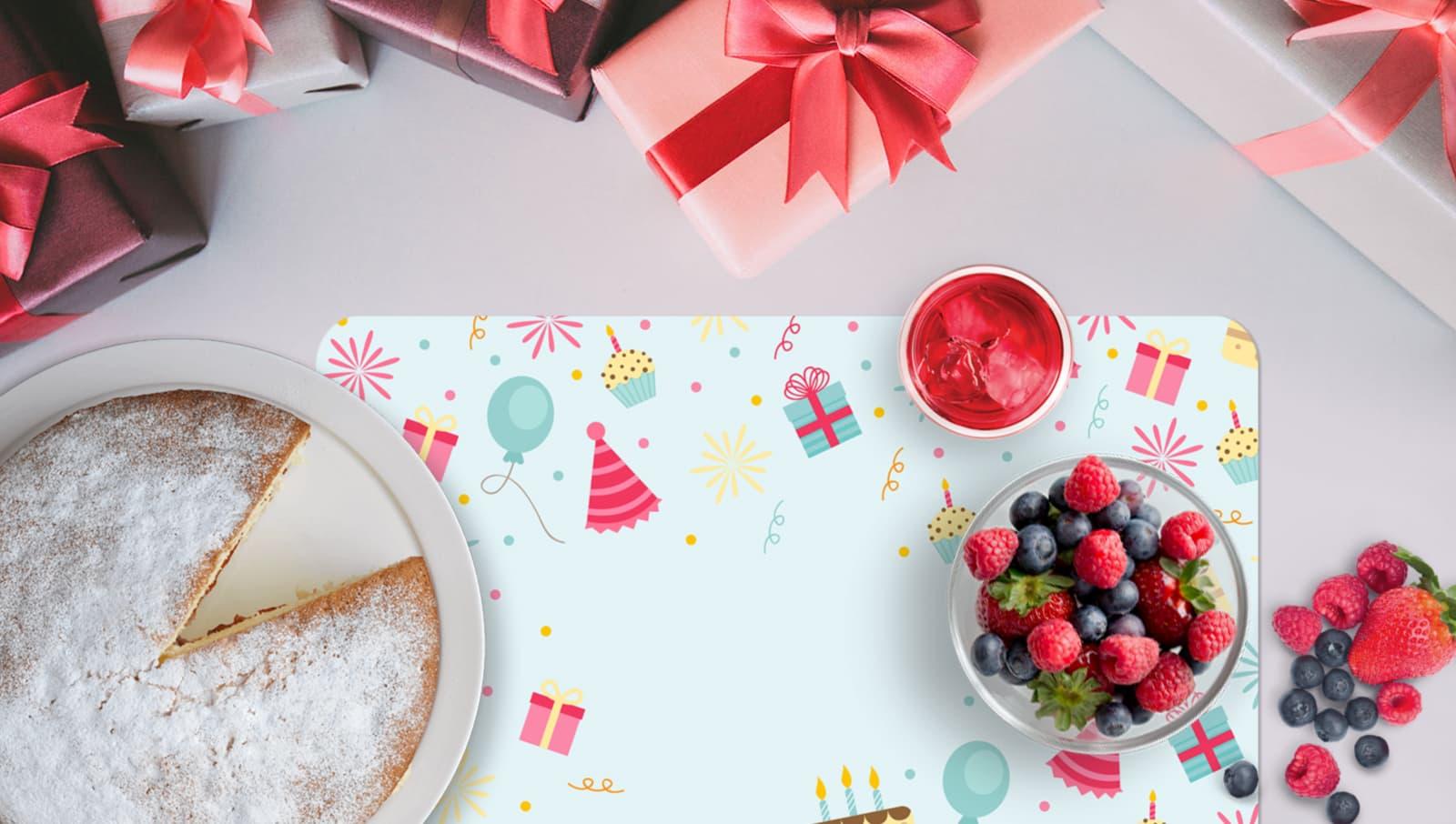Tovaglietta personalizzata per compleanno | tictac.it