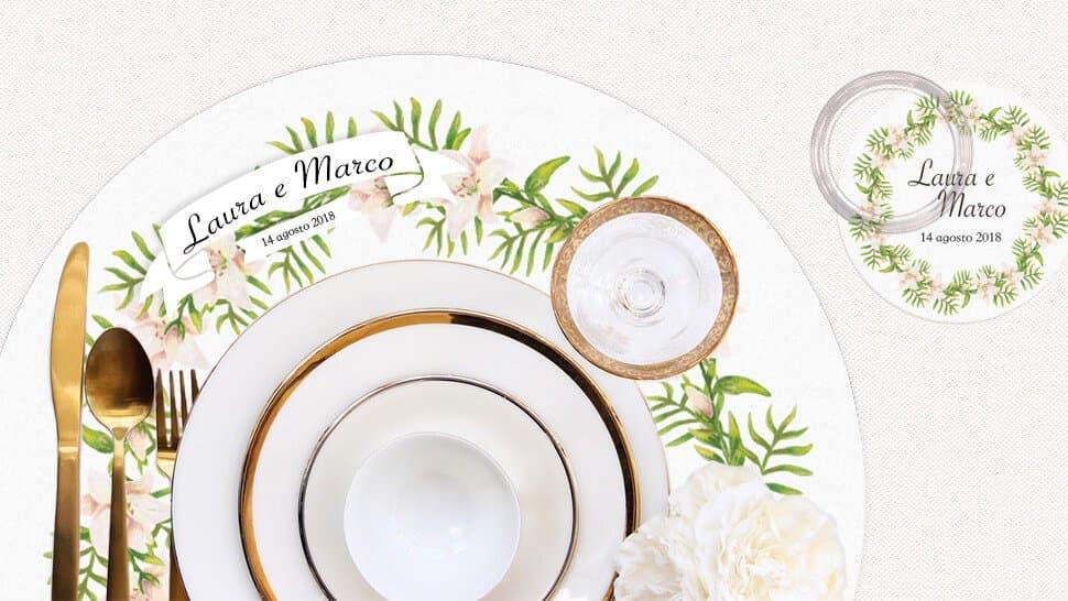 Tovaglietta personalizzabile tonda per matrimoni ed eventi | tictac.it
