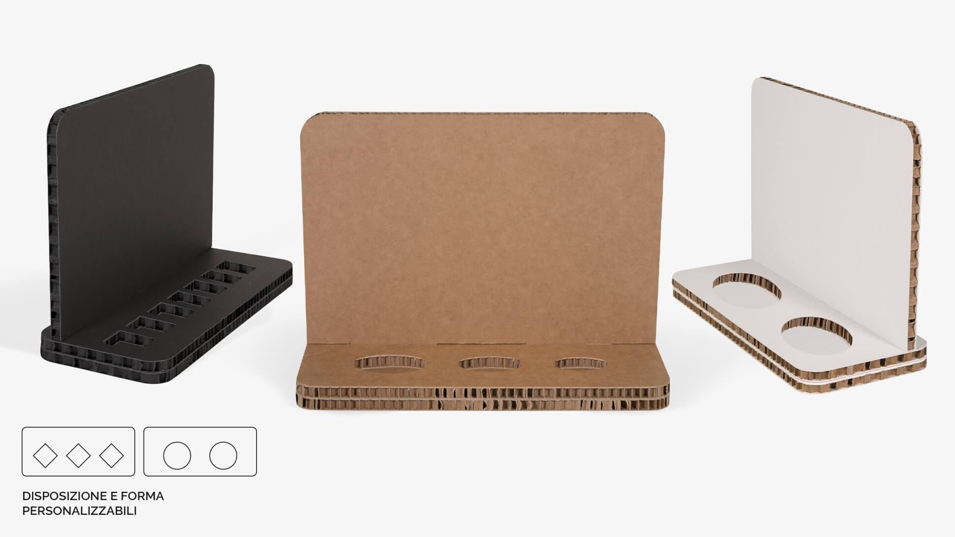 Display da banco in cartone alveolare 30x22 cm - grafica personalizzata | tictac.it