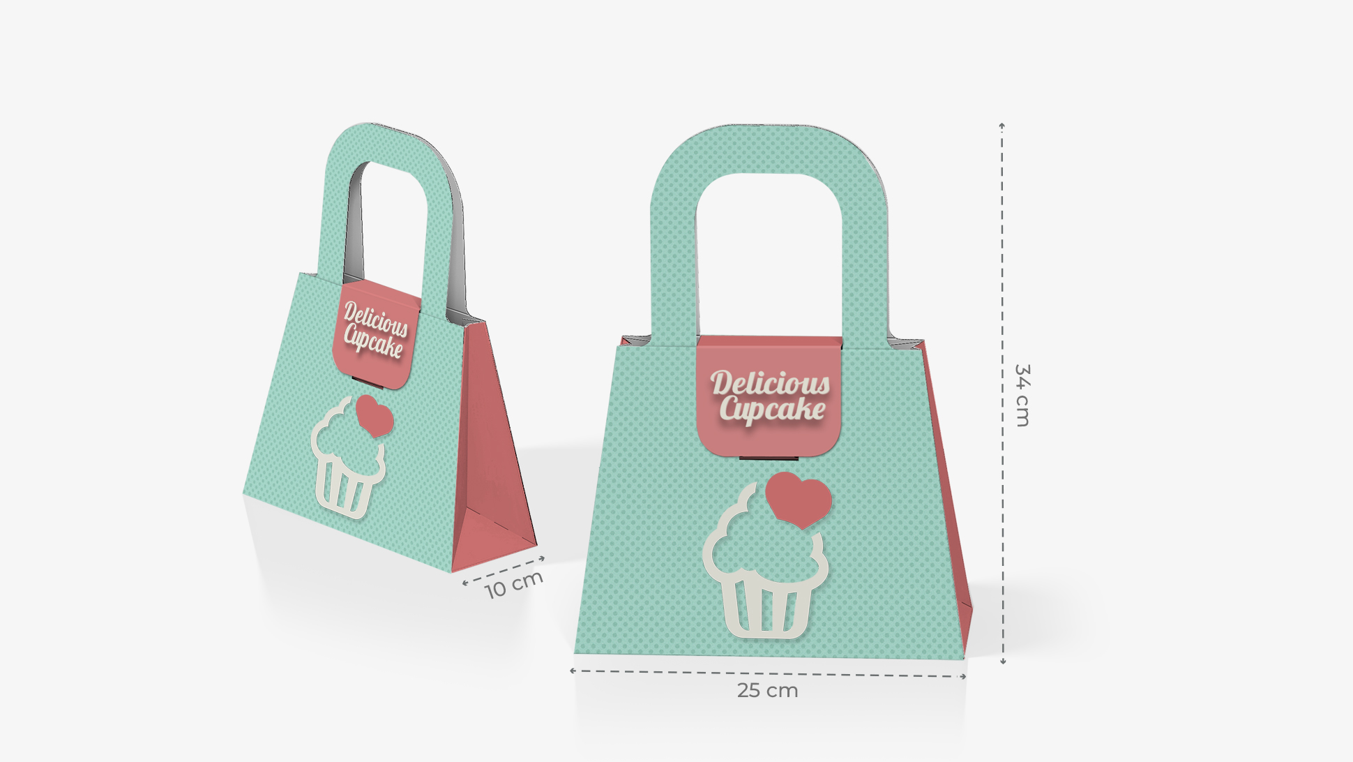 Borsa piccola in cartone con grafica | tictac.it