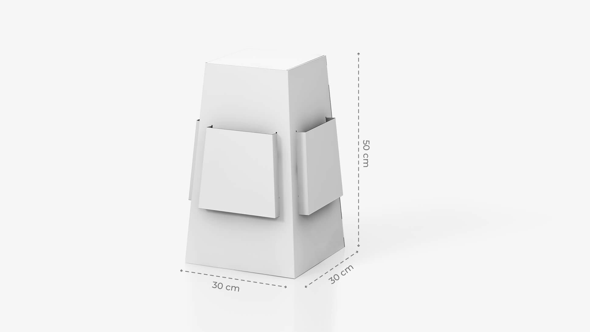 Espositore portavolantini da banco 20x30 cm personalizzabile | tictac.it