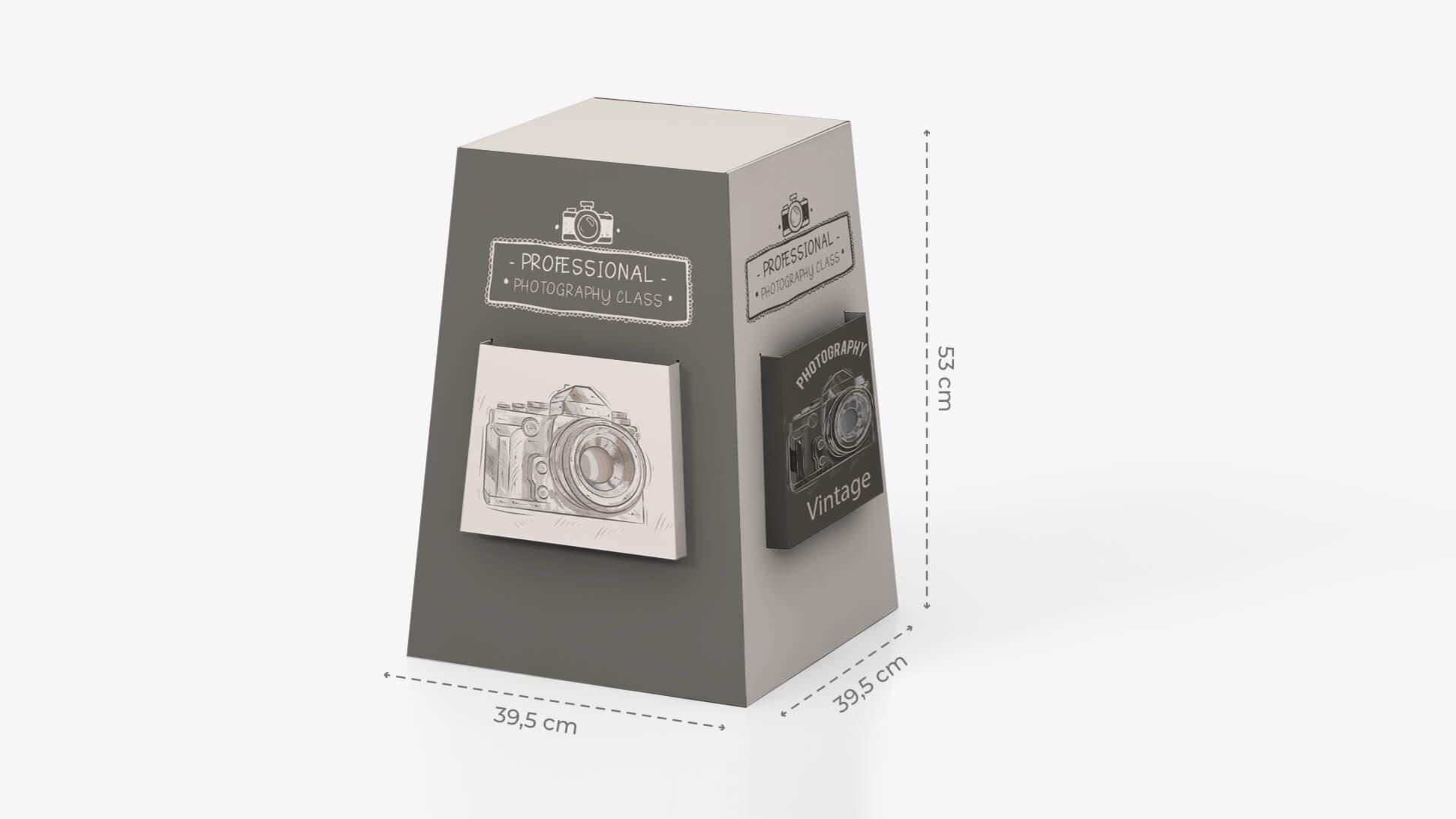 Espositore portavolantini da banco con grafica vintage | tictac.it
