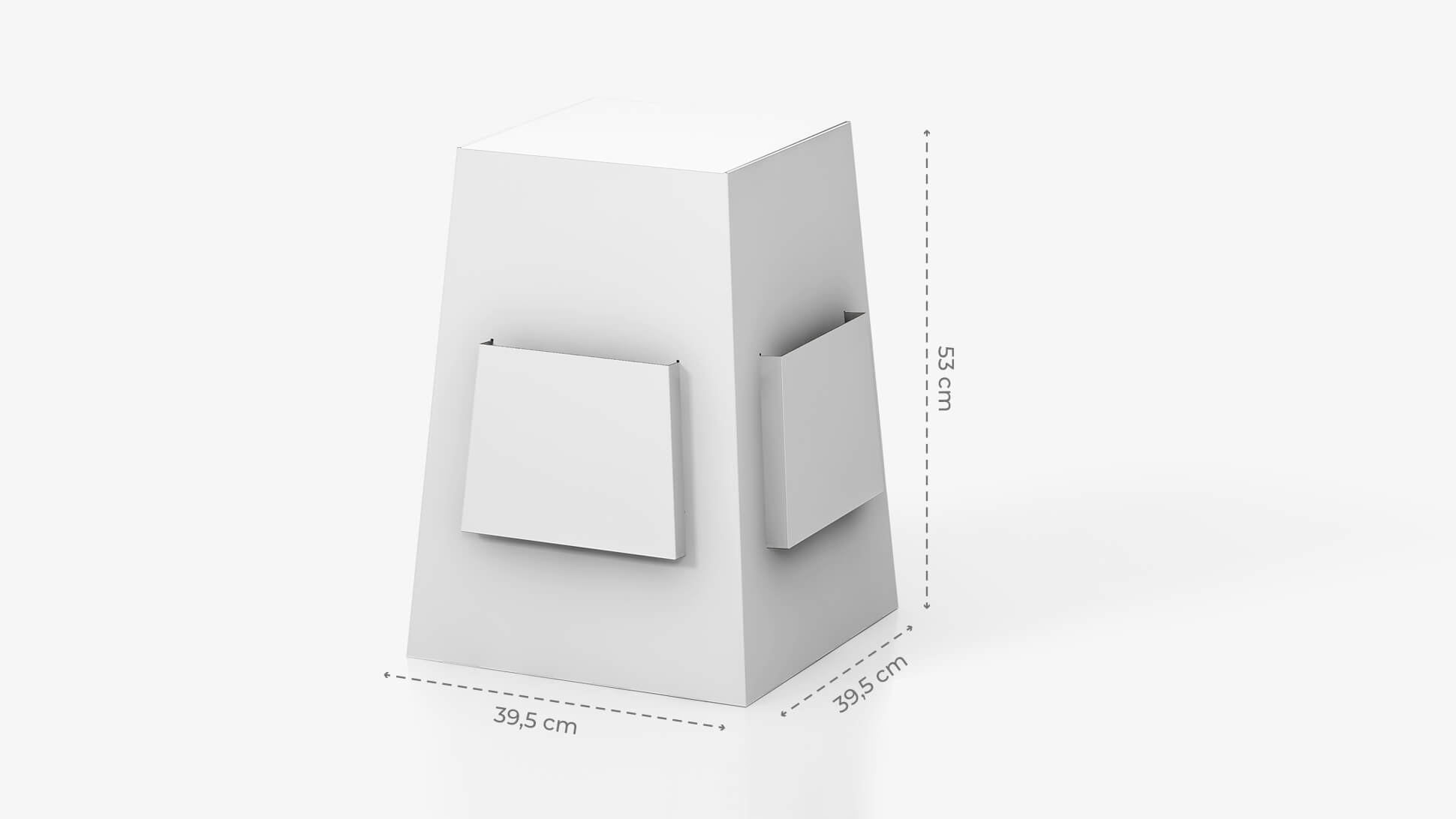 Espositore portavolantini da banco 20x40 cm personalizzabile | tictac.it