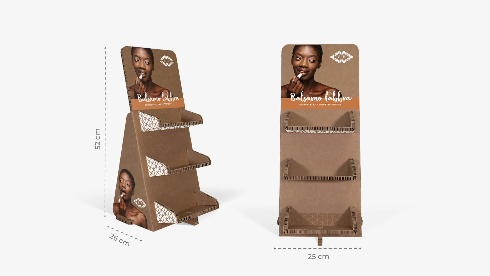 Espositore personalizzabile in cartone color avana | tictac.it