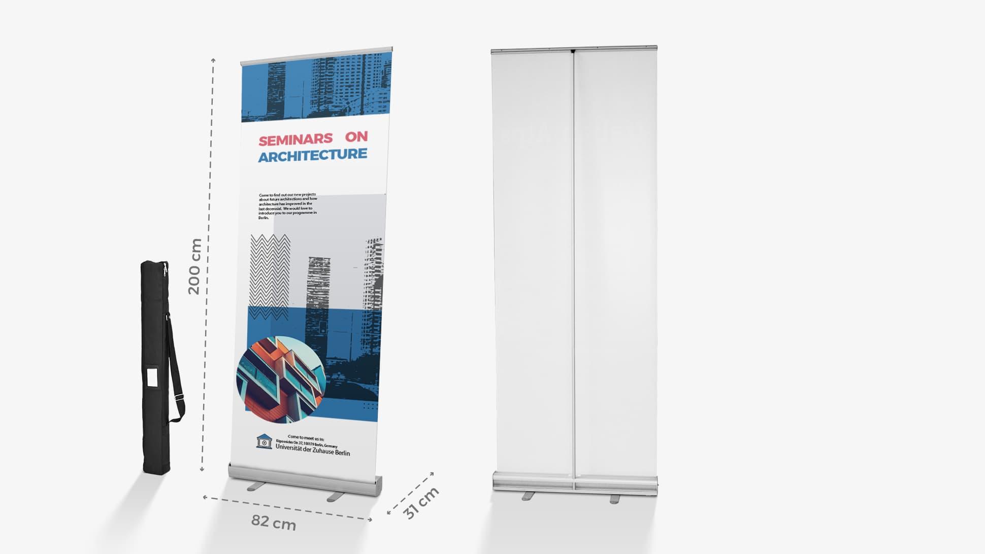 Rollup avvolgibile Plus con poster personalizzabile | tictac.it