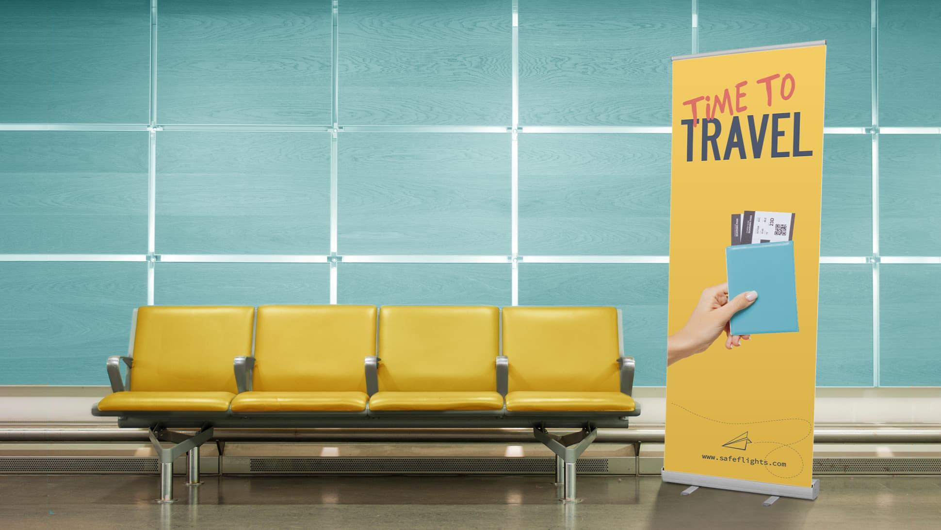 Roll Up Plus con grafica agenzia viaggi | tictac.it