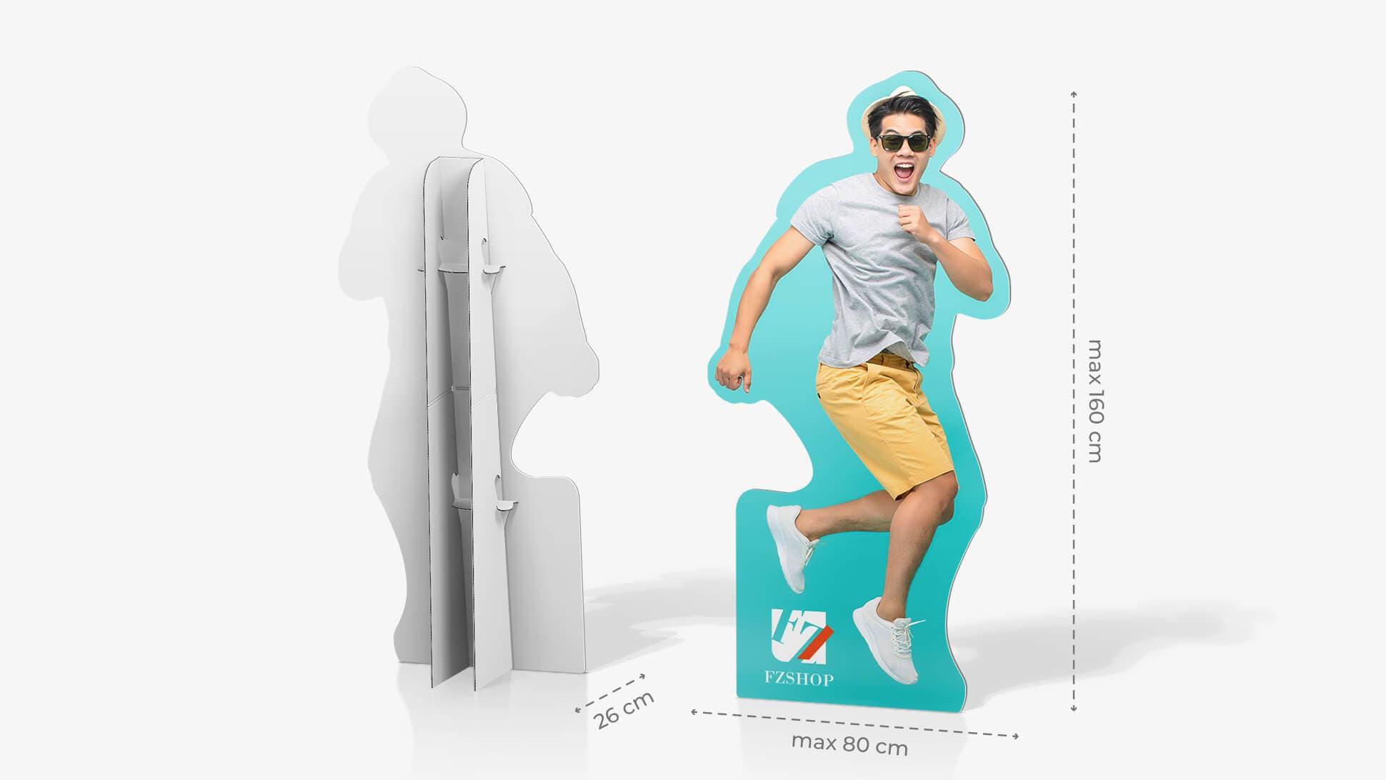 Cartonato sagomato personalizzabile con altezza massima 160 cm   tictac.it