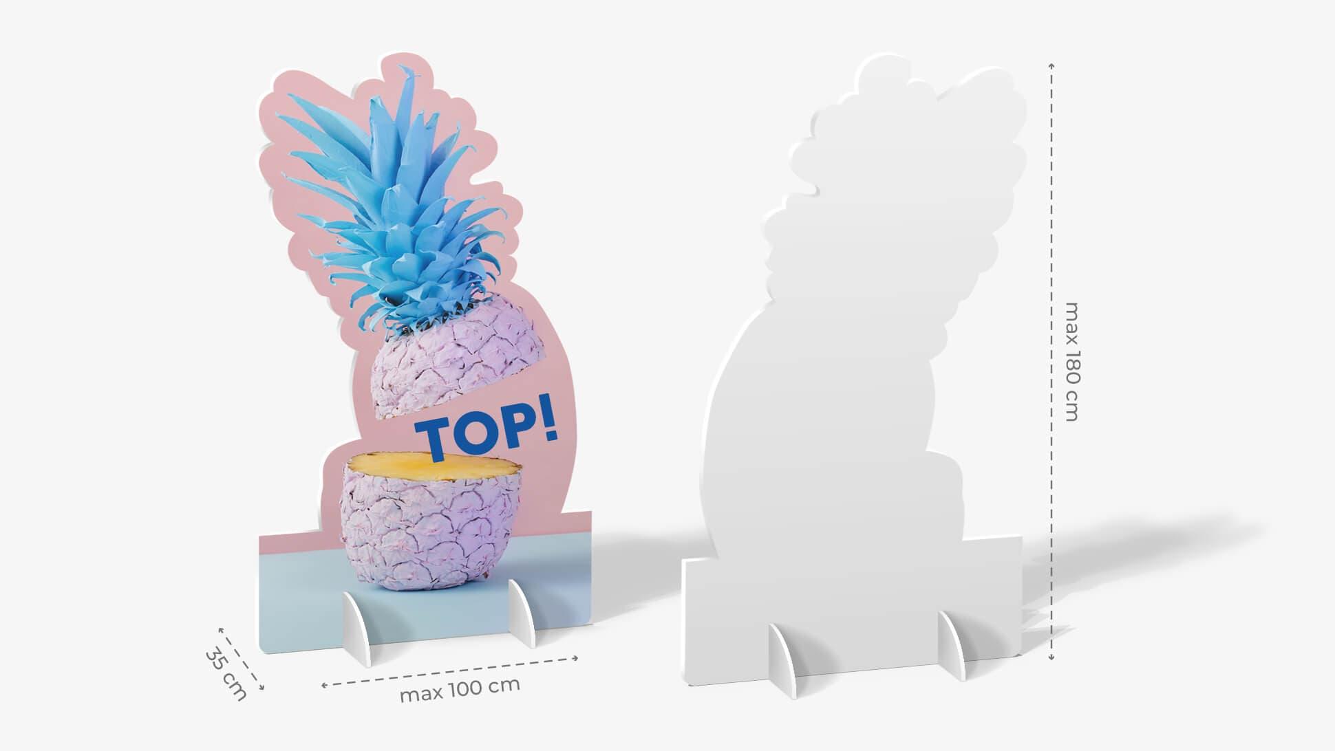Sagomato in laminil grafica personalizzabile | tictac.it
