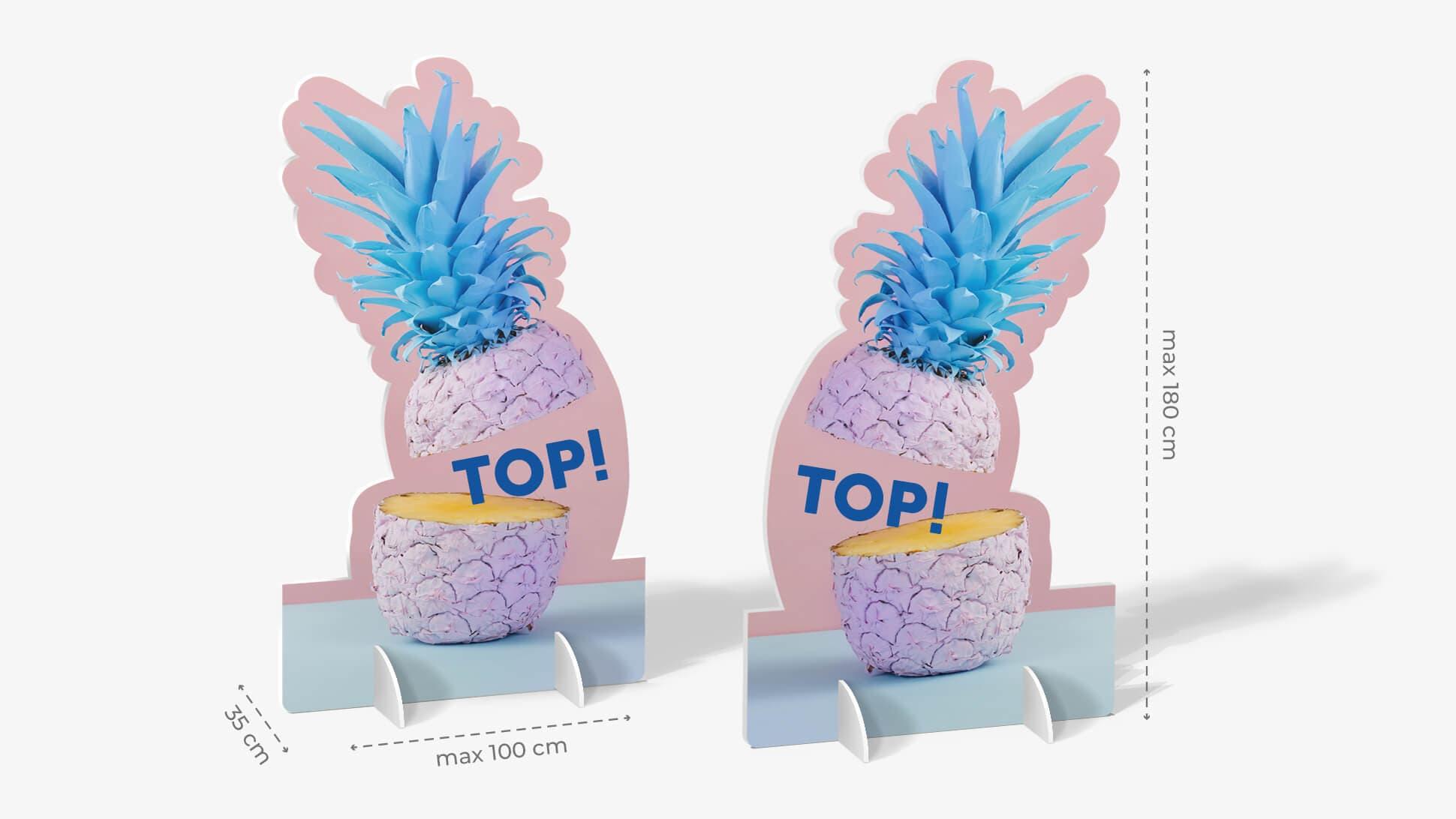 Sagomato bifacciale con frutta stampata | tictac.it